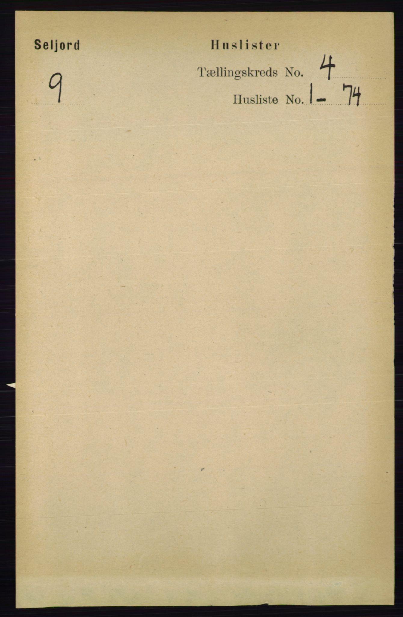 RA, Folketelling 1891 for 0828 Seljord herred, 1891, s. 1218