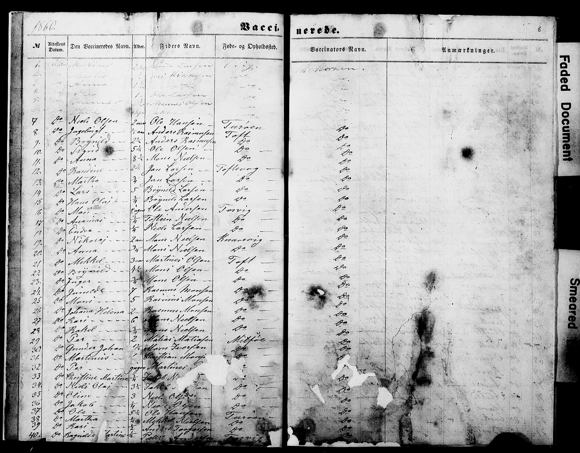 SAB, Manger sokneprestembete, H/Haa: Ministerialbok nr. A 11, 1860-1867, s. 6