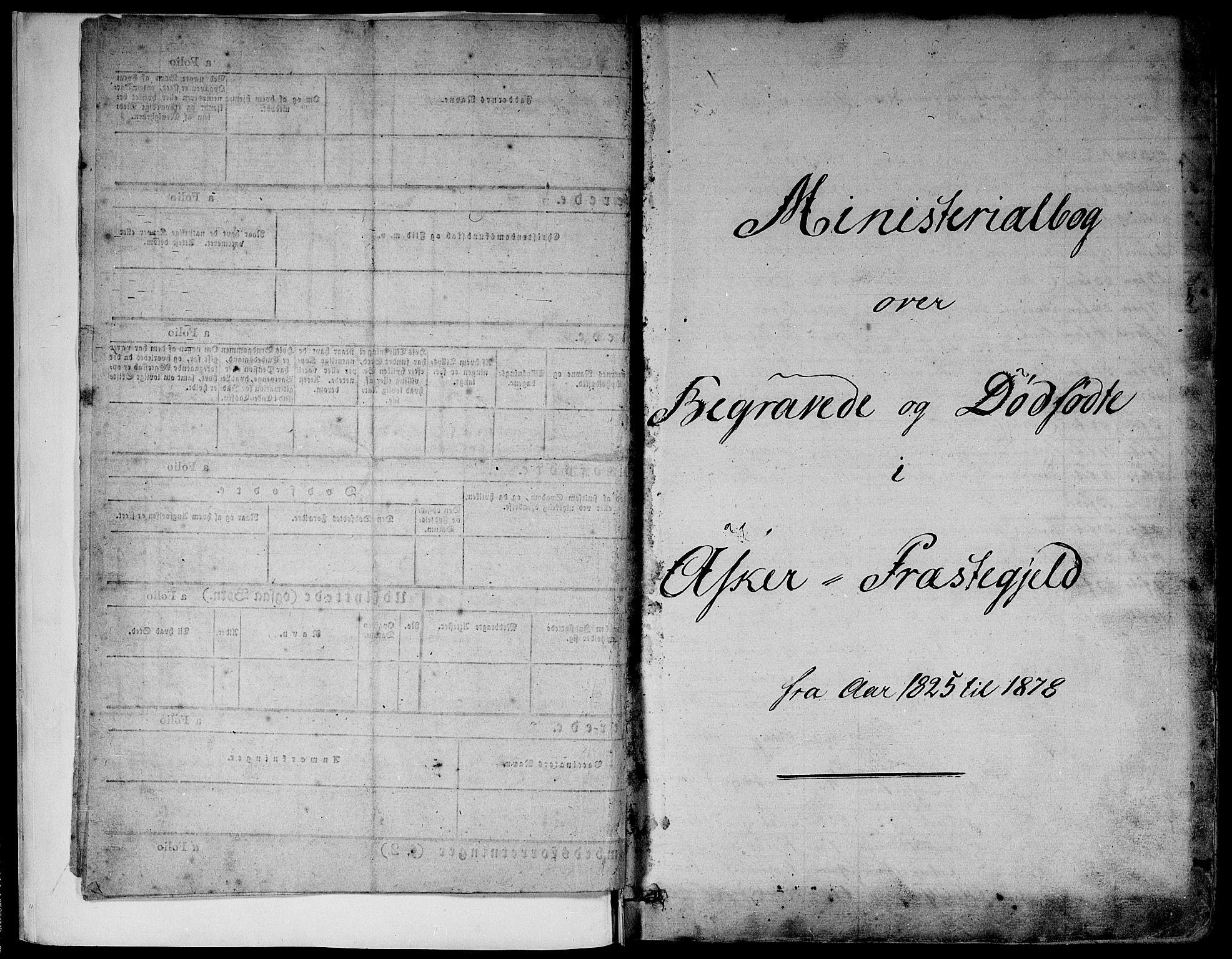 SAO, Asker prestekontor Kirkebøker, F/Fa/L0011: Ministerialbok nr. I 11, 1825-1878
