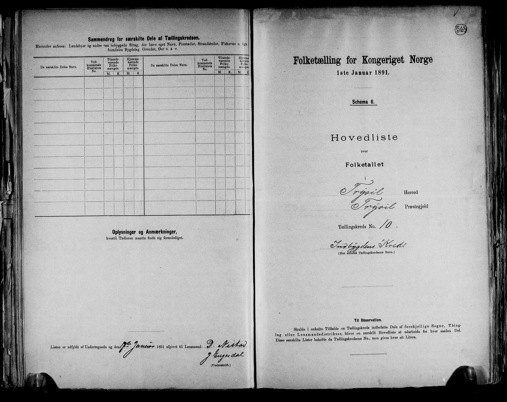 RA, Folketelling 1891 for 0428 Trysil herred, 1891, s. 25
