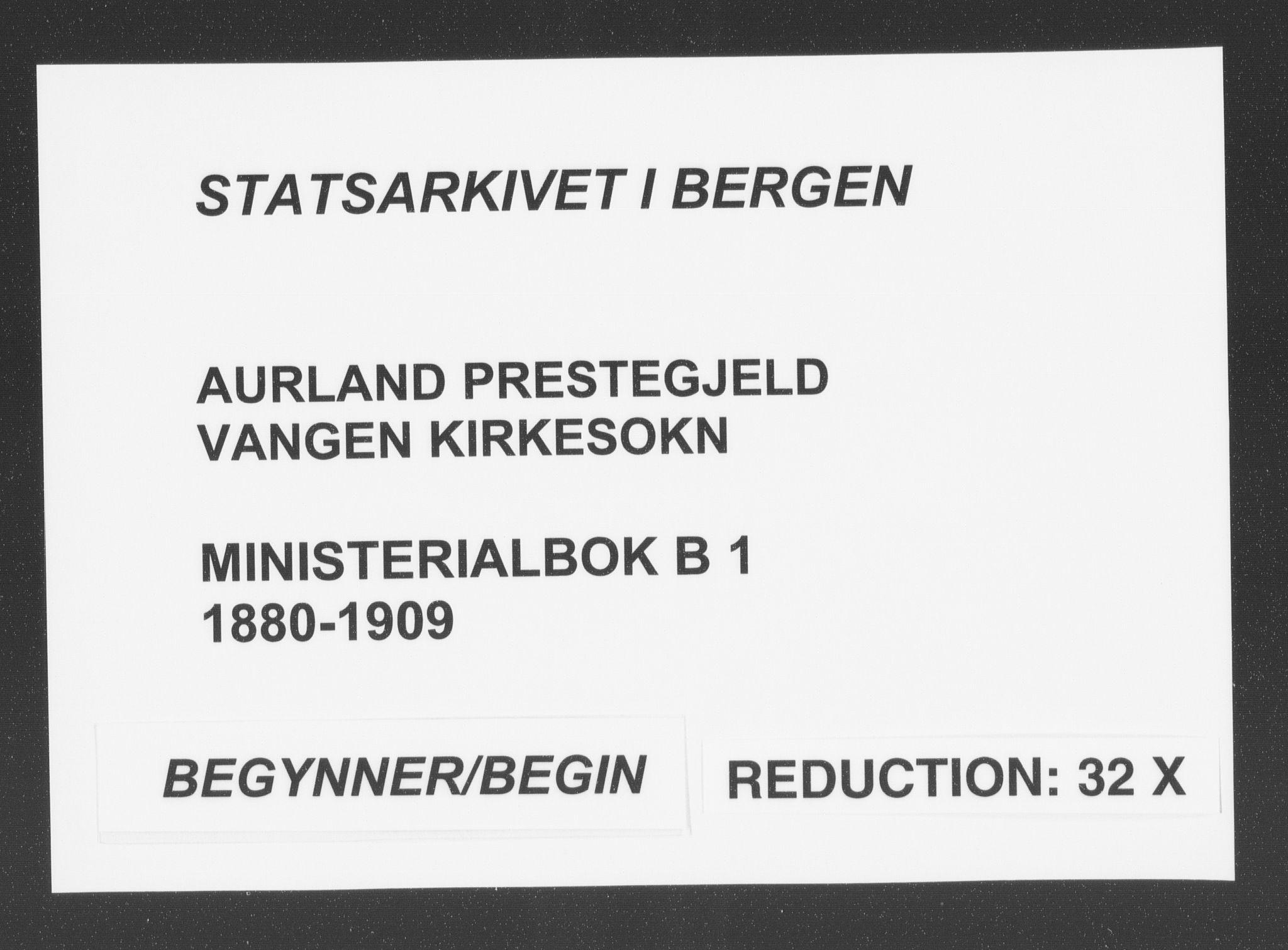 SAB, Aurland Sokneprestembete*, Ministerialbok nr. B  1, 1880-1909