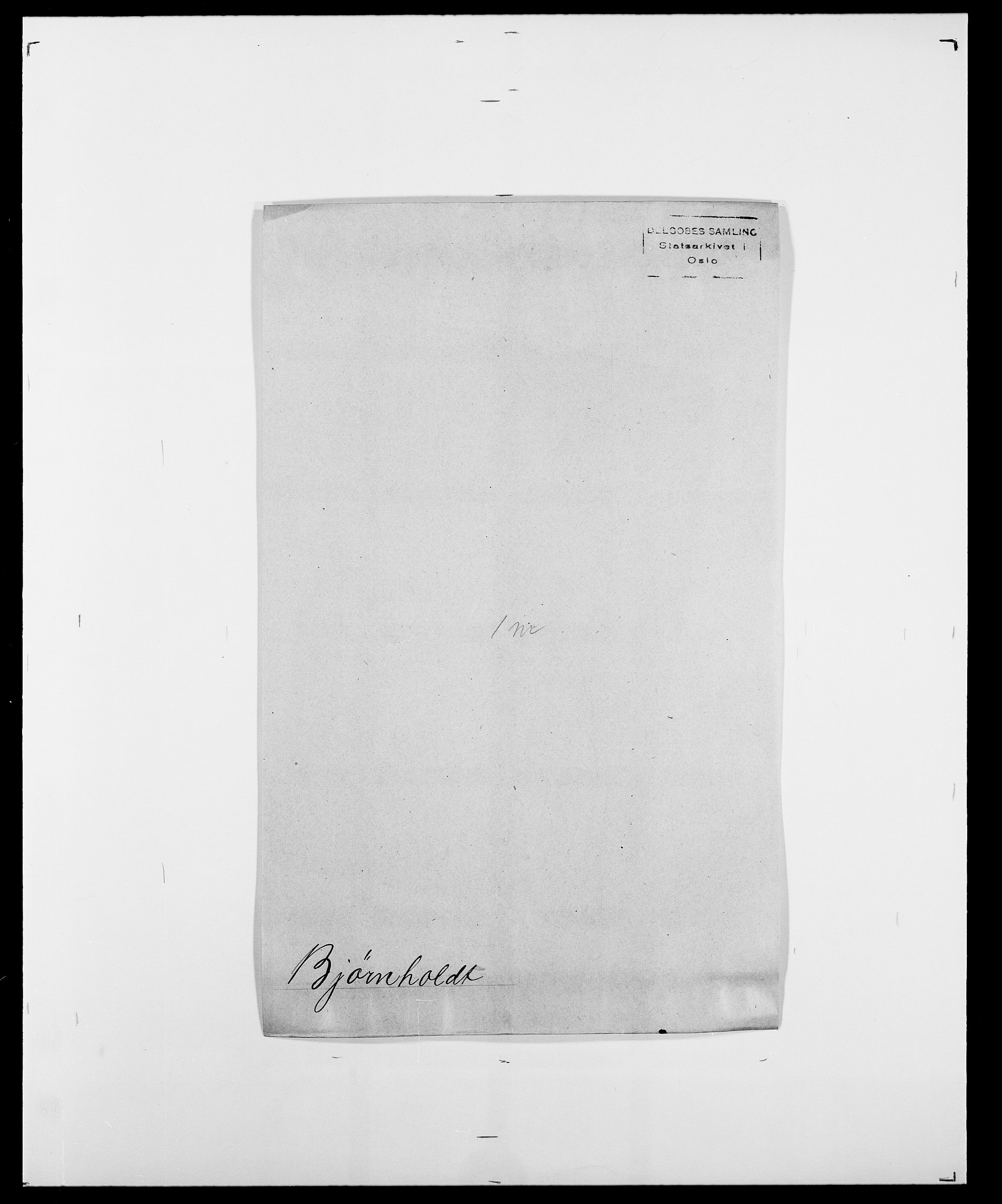 SAO, Delgobe, Charles Antoine - samling, D/Da/L0004: Bergendahl - Blære, s. 465