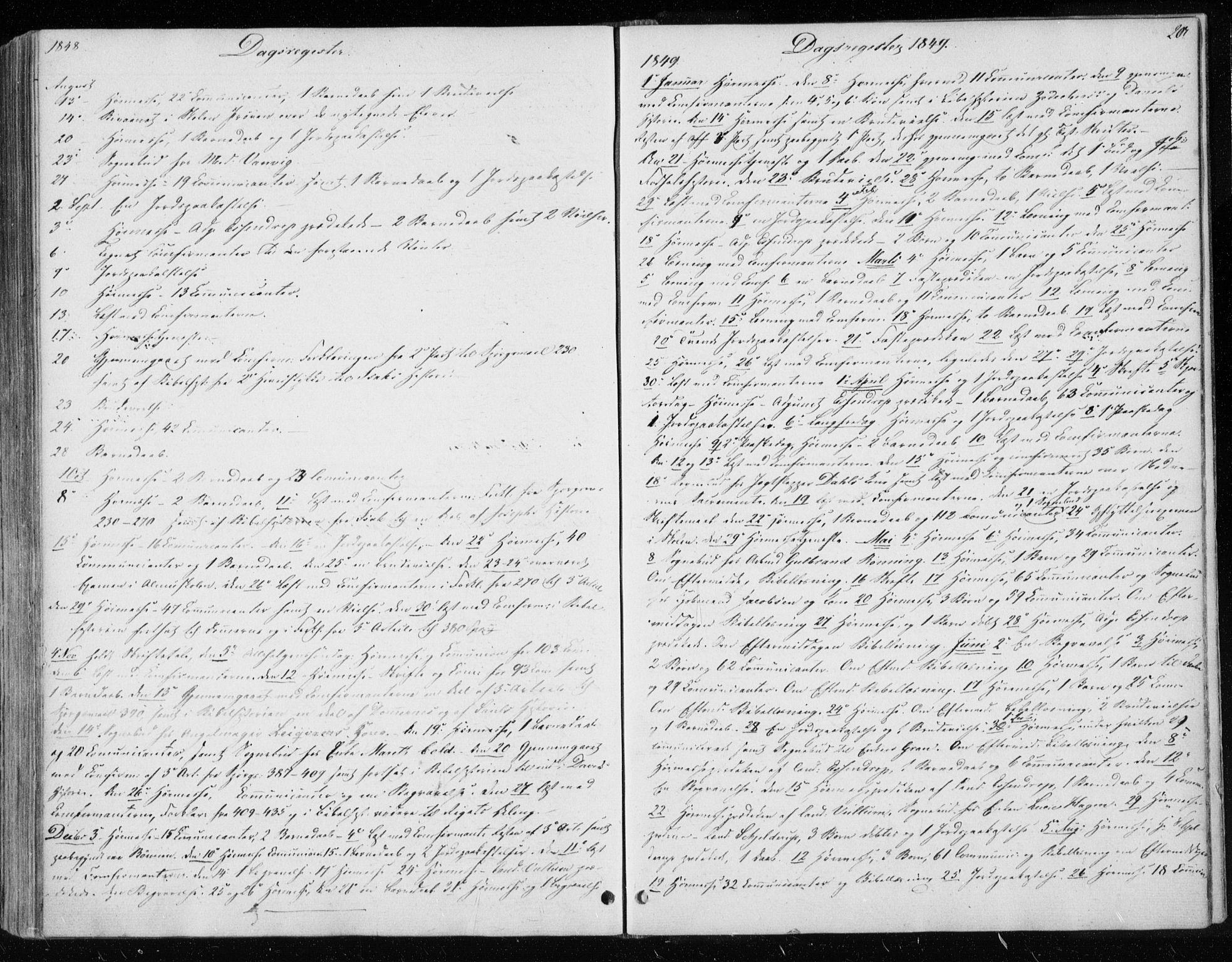 SAT, Ministerialprotokoller, klokkerbøker og fødselsregistre - Sør-Trøndelag, 604/L0183: Ministerialbok nr. 604A04, 1841-1850, s. 203