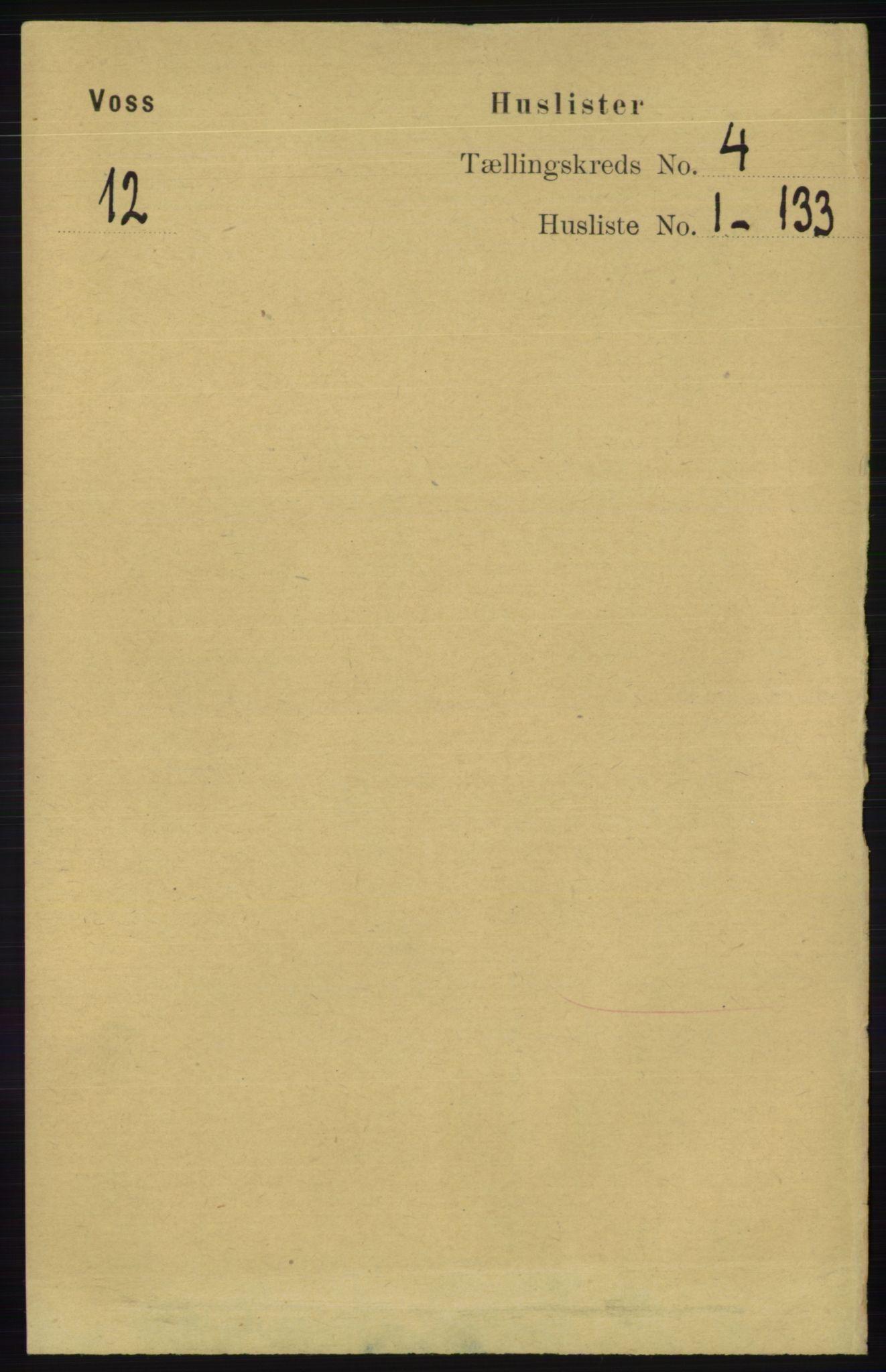 RA, Folketelling 1891 for 1235 Voss herred, 1891, s. 1427
