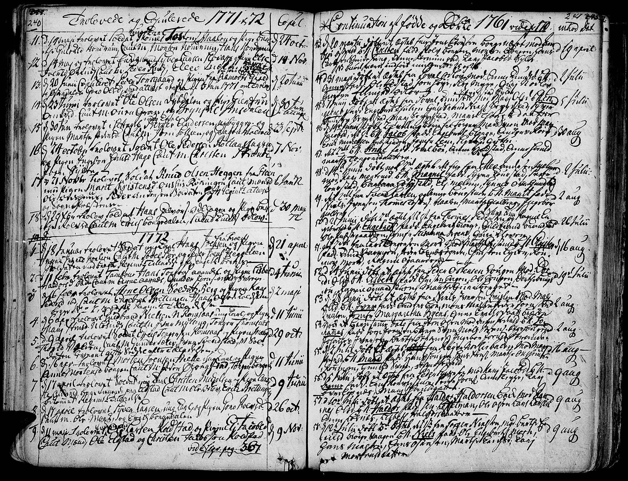 SAH, Ringebu prestekontor, Ministerialbok nr. 2, 1734-1780, s. 240-241