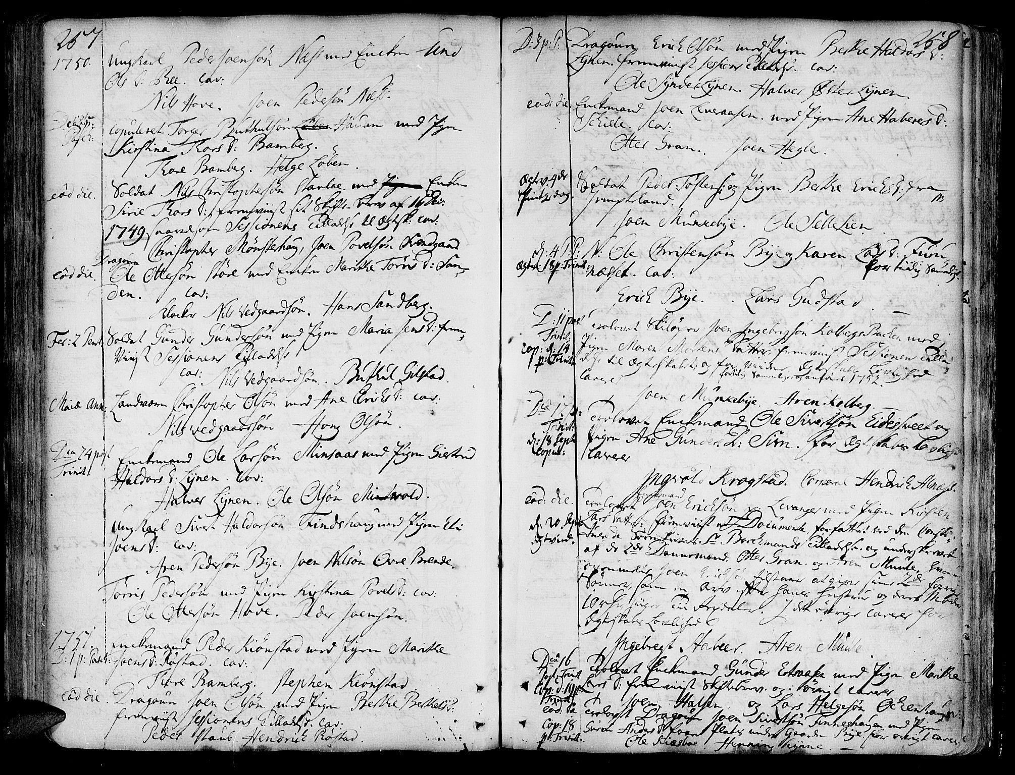 SAT, Ministerialprotokoller, klokkerbøker og fødselsregistre - Nord-Trøndelag, 717/L0141: Ministerialbok nr. 717A01, 1747-1803, s. 257-258