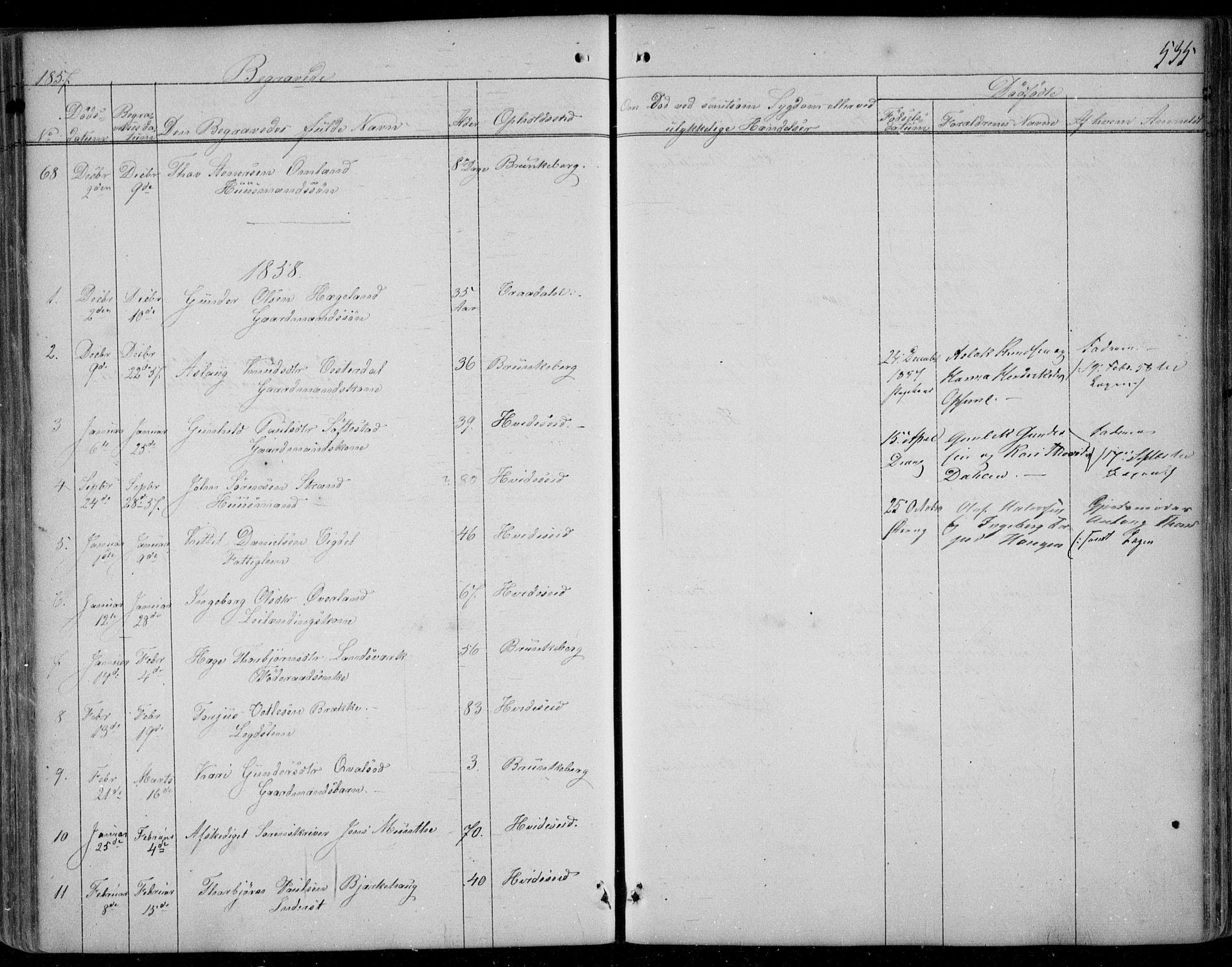SAKO, Kviteseid kirkebøker, F/Fa/L0006: Ministerialbok nr. I 6, 1836-1858, s. 535