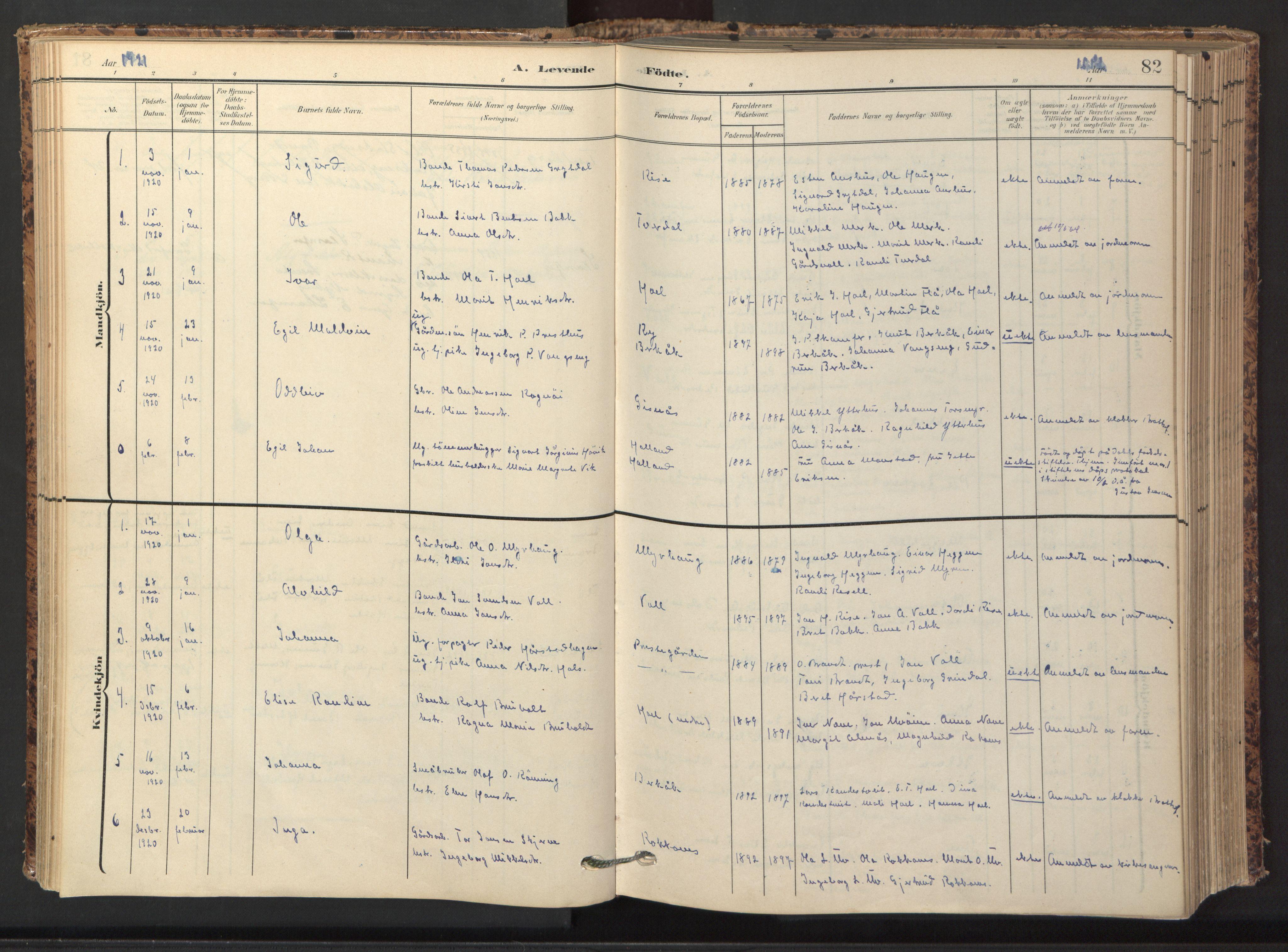 SAT, Ministerialprotokoller, klokkerbøker og fødselsregistre - Sør-Trøndelag, 674/L0873: Ministerialbok nr. 674A05, 1908-1923, s. 82