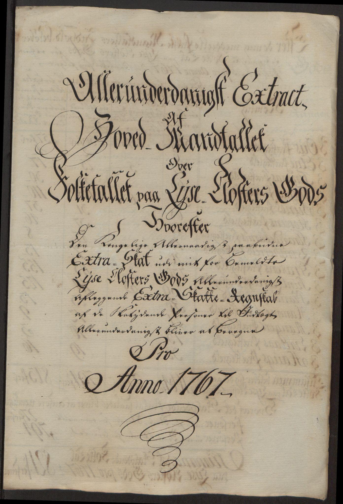 RA, Rentekammeret inntil 1814, Reviderte regnskaper, Fogderegnskap, R50/L3180: Ekstraskatten Lyse kloster, 1762-1783, s. 175