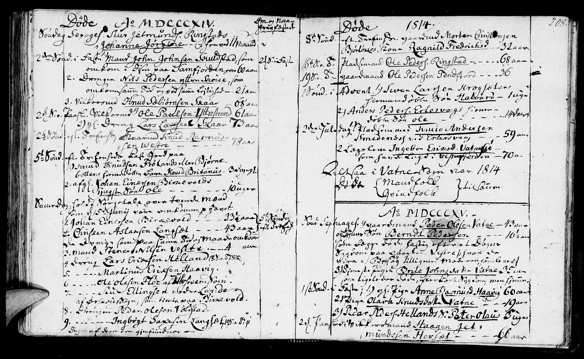 SAT, Ministerialprotokoller, klokkerbøker og fødselsregistre - Møre og Romsdal, 525/L0372: Ministerialbok nr. 525A02, 1778-1817, s. 208