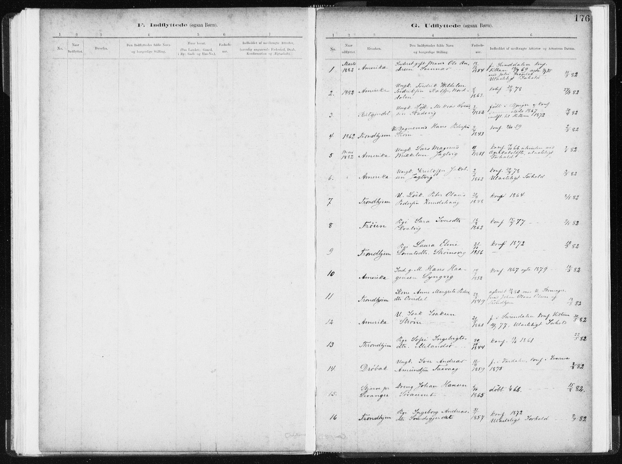 SAT, Ministerialprotokoller, klokkerbøker og fødselsregistre - Sør-Trøndelag, 634/L0533: Ministerialbok nr. 634A09, 1882-1901, s. 176