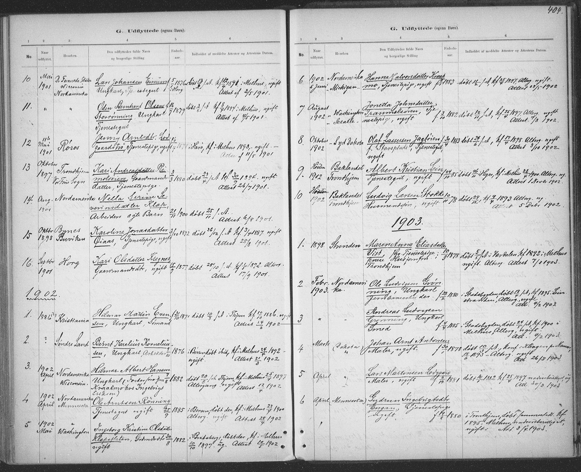 SAT, Ministerialprotokoller, klokkerbøker og fødselsregistre - Sør-Trøndelag, 691/L1085: Ministerialbok nr. 691A17, 1887-1908, s. 404