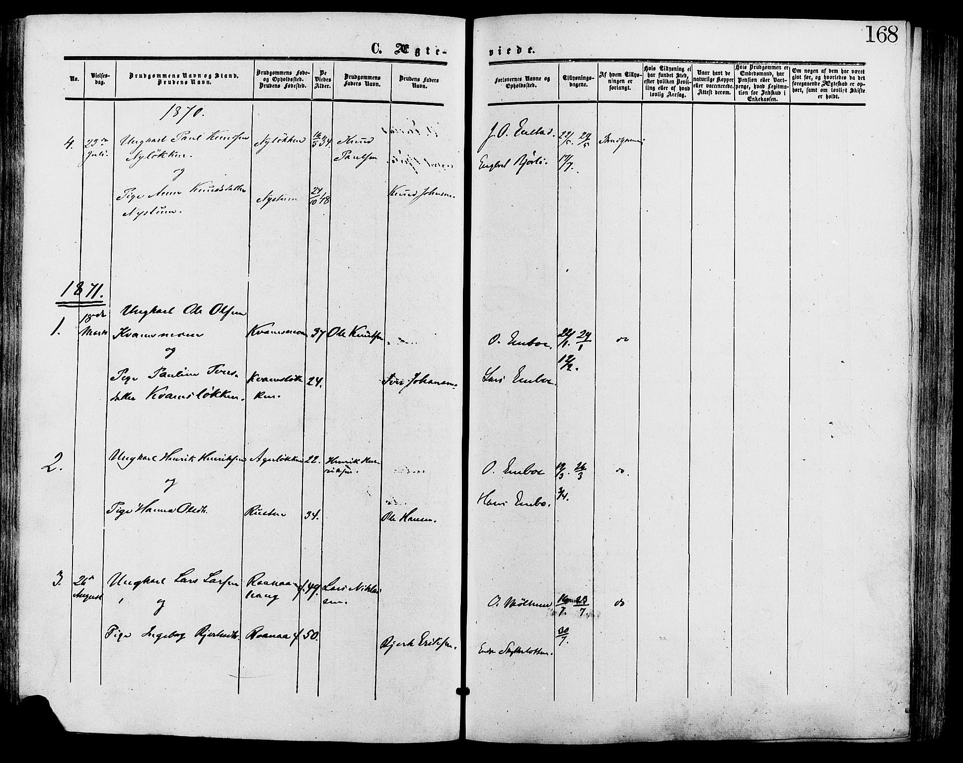 SAH, Lesja prestekontor, Ministerialbok nr. 9, 1854-1889, s. 168