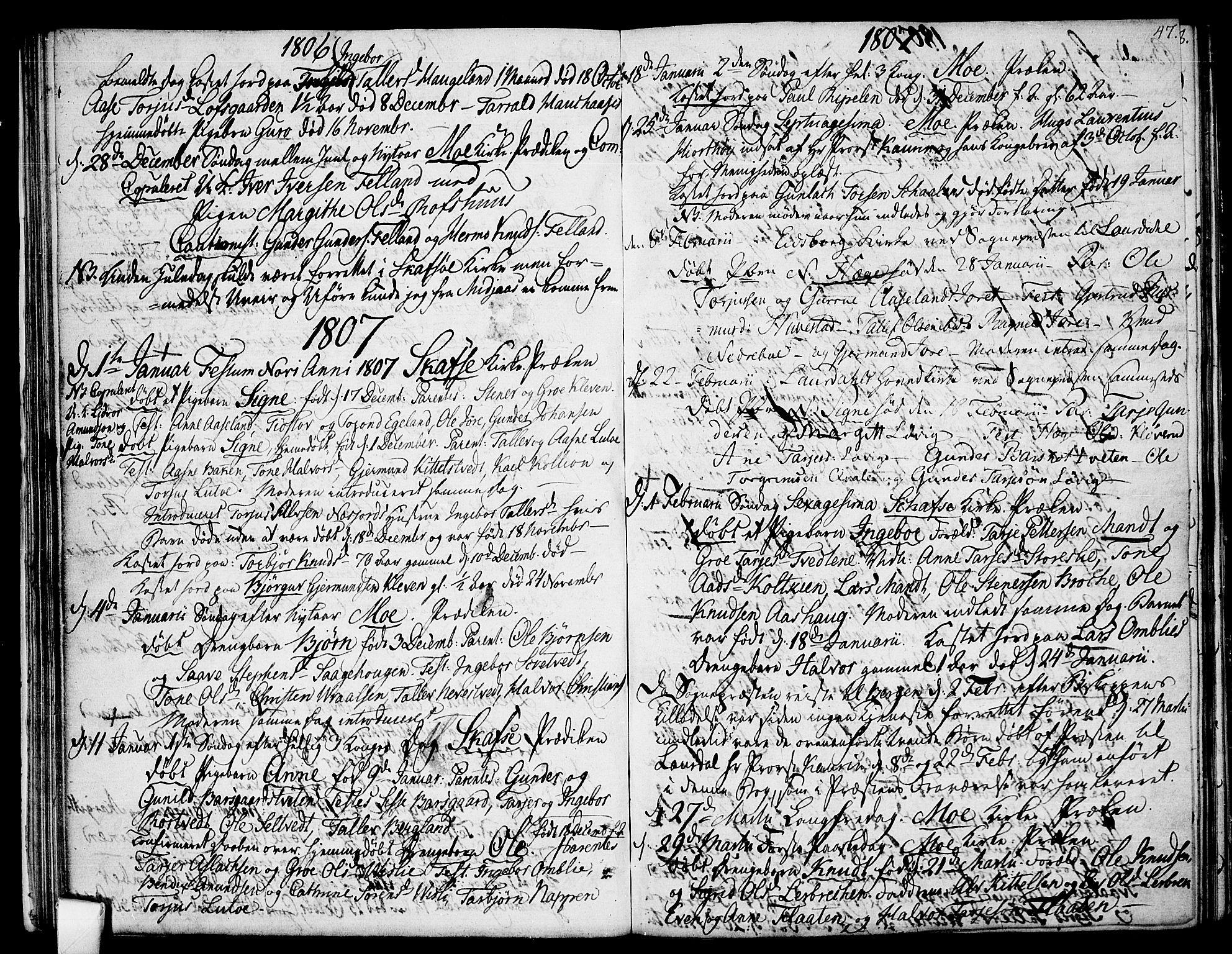 SAKO, Mo kirkebøker, F/Fa/L0003: Ministerialbok nr. I 3, 1800-1814, s. 47