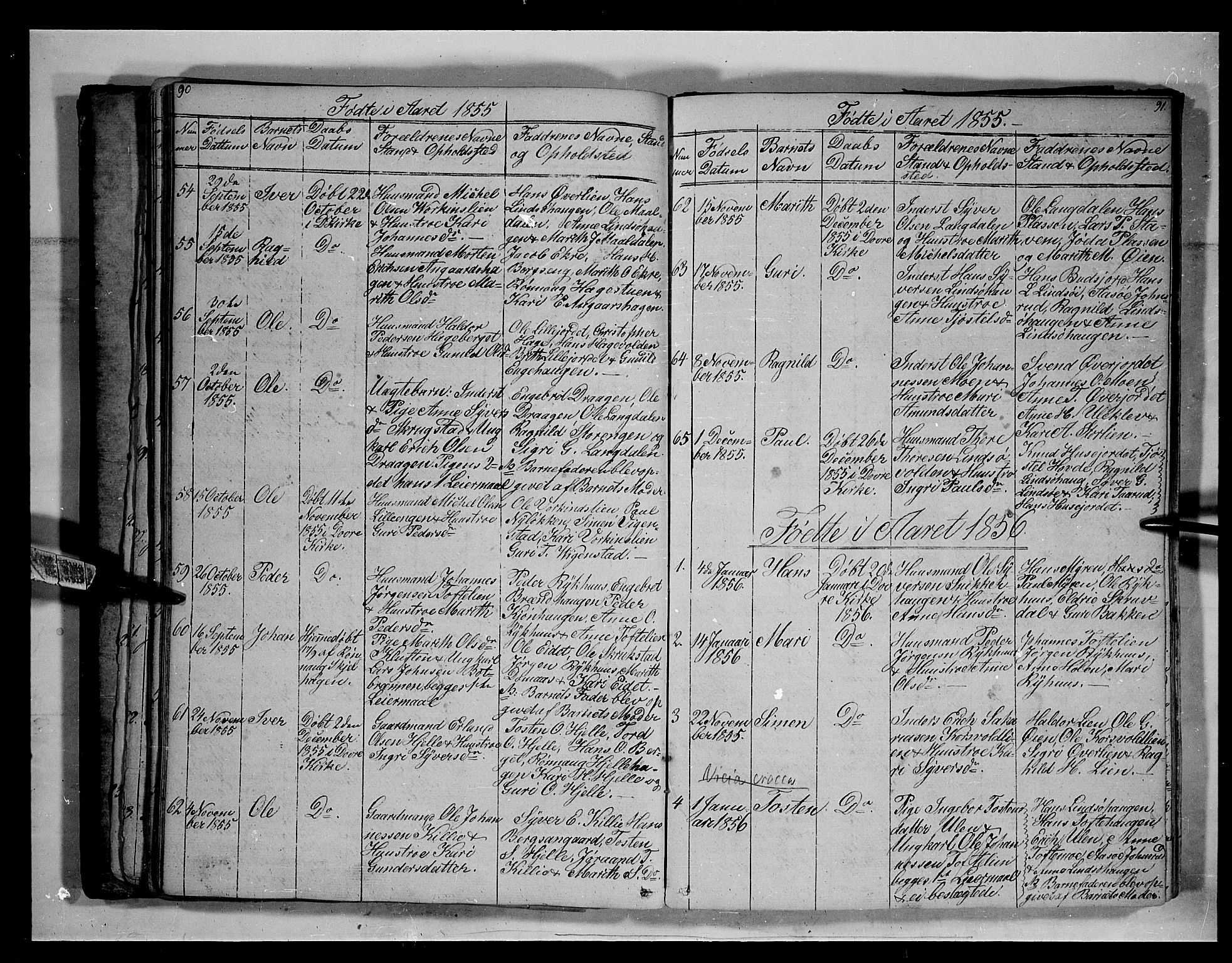 SAH, Lesja prestekontor, Klokkerbok nr. 3, 1842-1862, s. 90-91