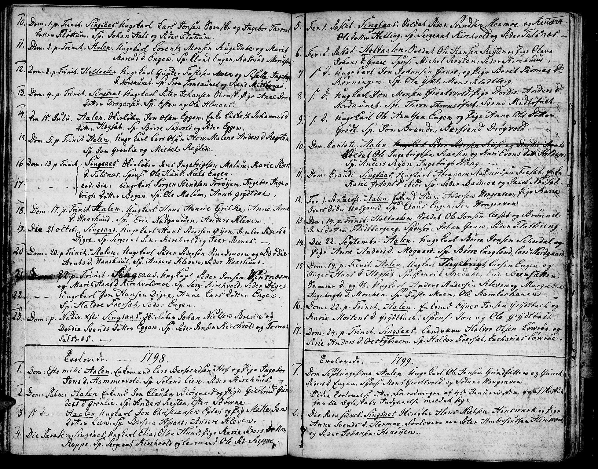 SAT, Ministerialprotokoller, klokkerbøker og fødselsregistre - Sør-Trøndelag, 685/L0952: Ministerialbok nr. 685A01, 1745-1804, s. 124