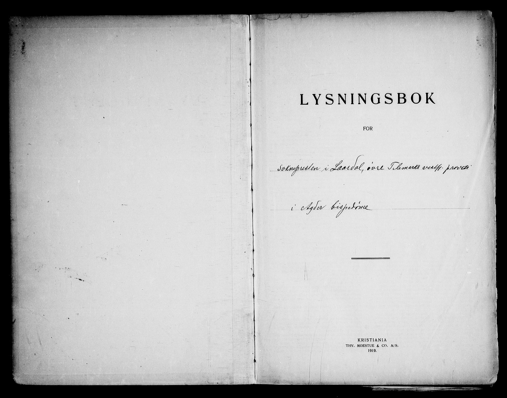 SAKO, Lårdal kirkebøker, H/Ha: Lysningsprotokoll nr. 1, 1919-1969