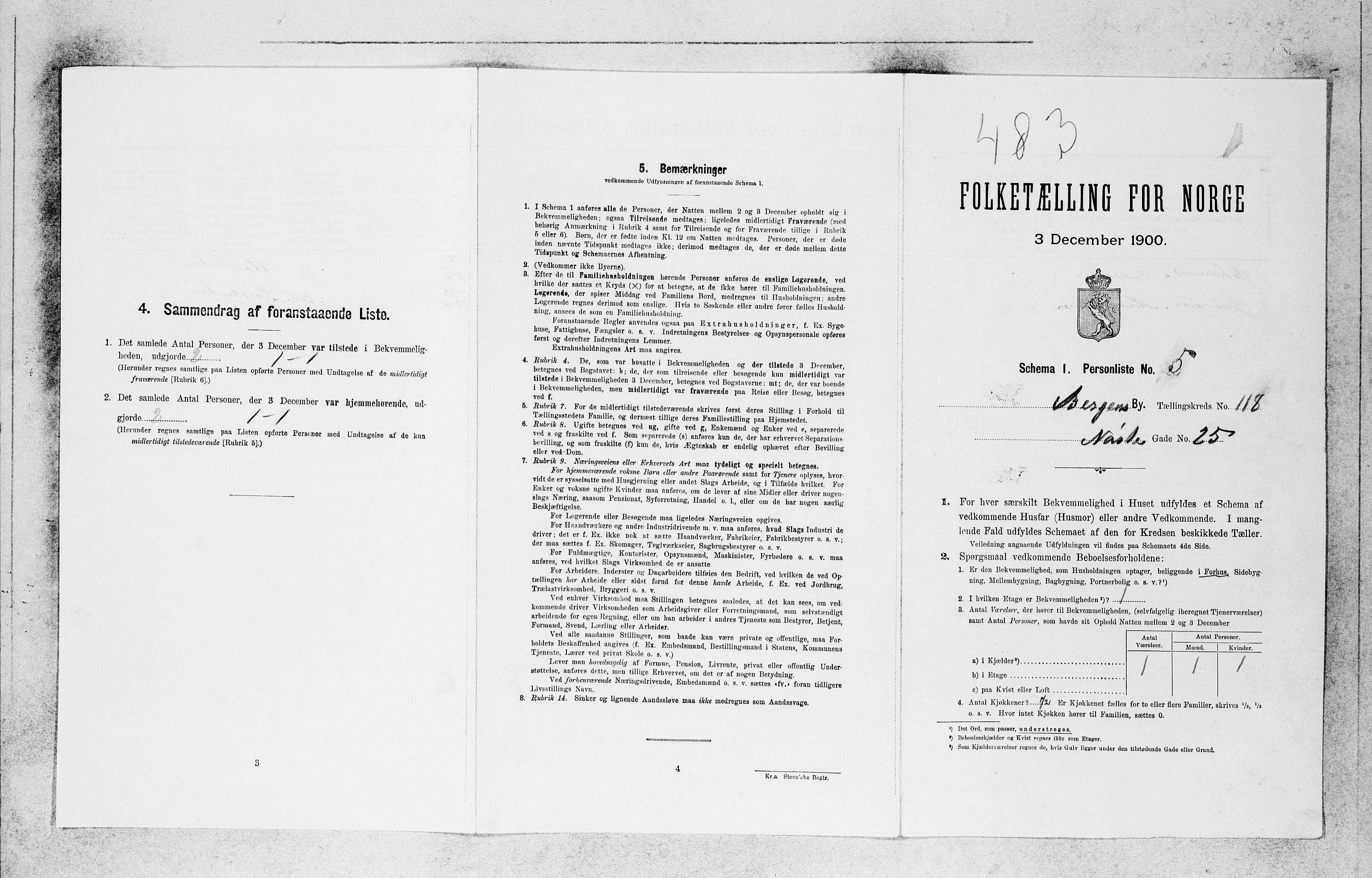 SAB, Folketelling 1900 for 1301 Bergen kjøpstad, 1900, s. 24565