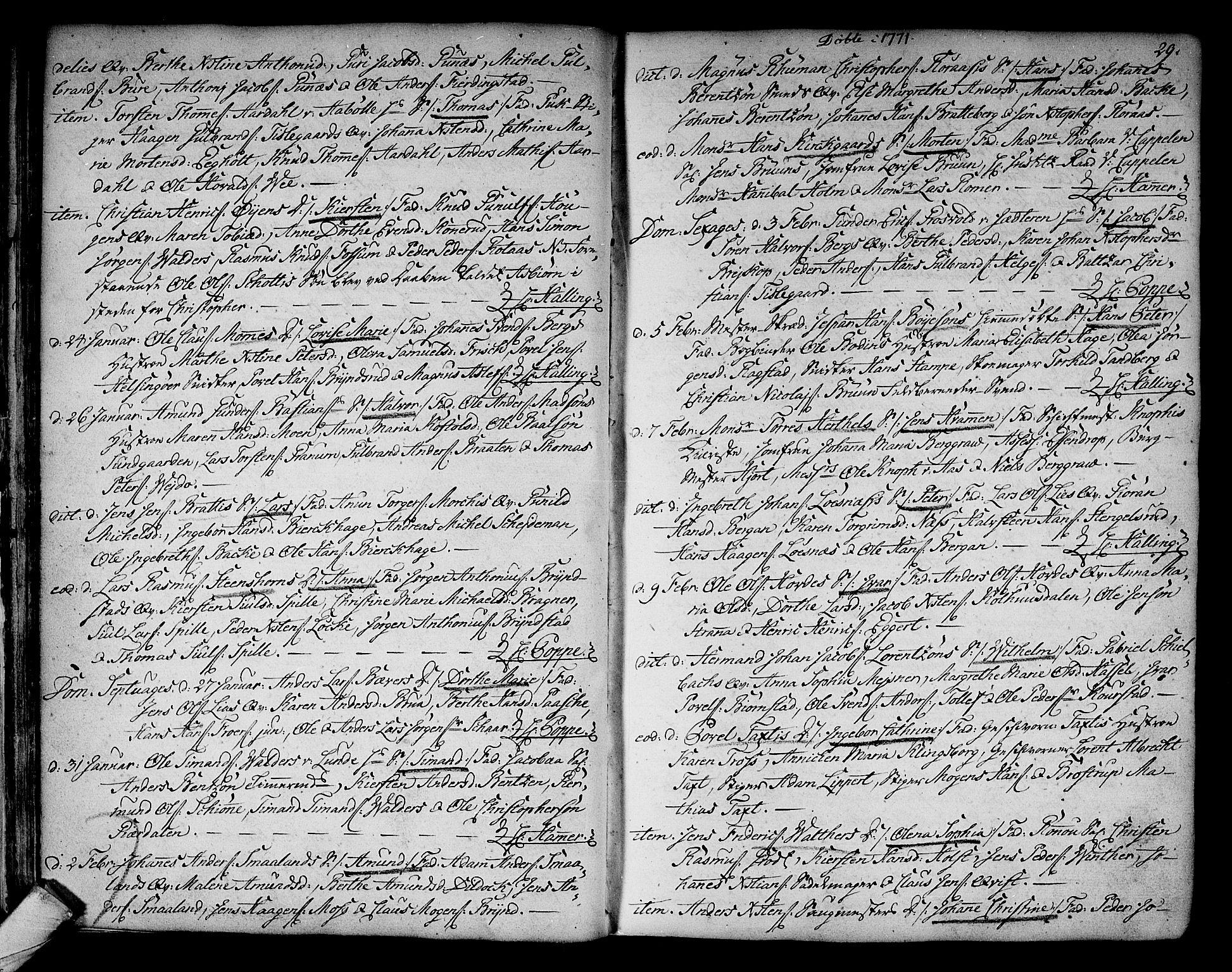 SAKO, Kongsberg kirkebøker, F/Fa/L0005: Ministerialbok nr. I 5, 1769-1782, s. 29
