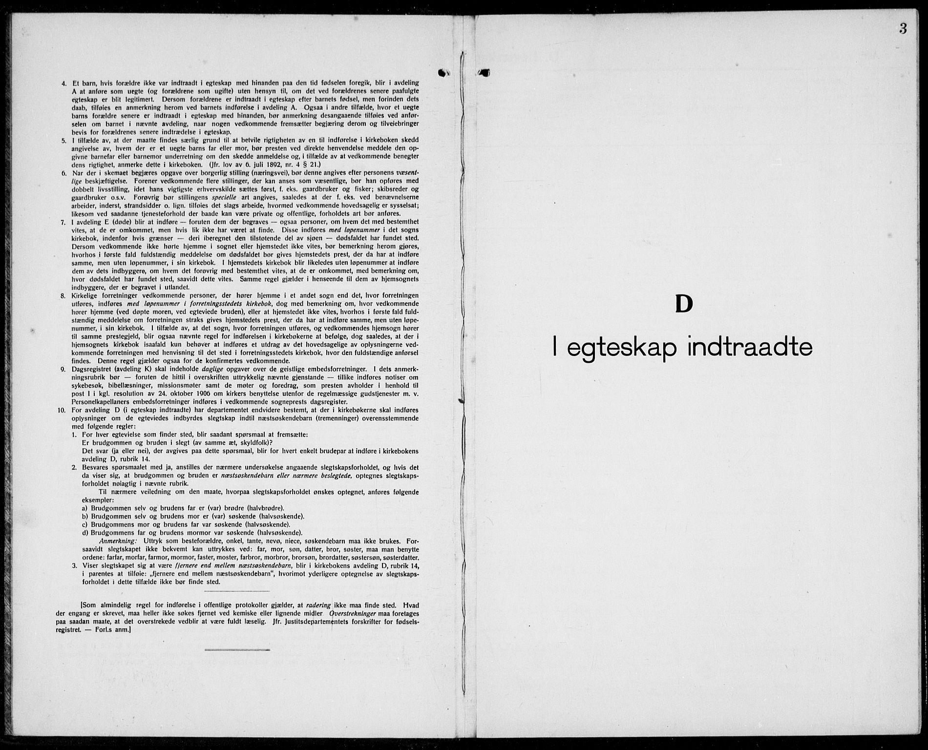 SAST, Domkirken sokneprestkontor, 30/30BB/L0020: Klokkerbok nr. B 20, 1921-1937, s. 3