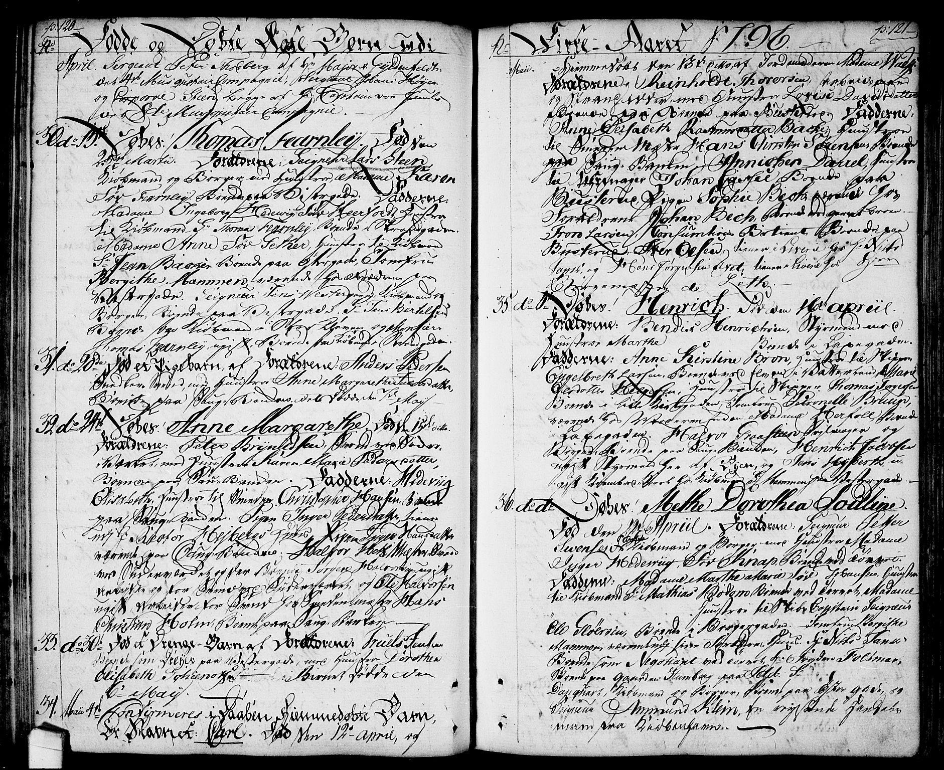 SAO, Halden prestekontor Kirkebøker, F/Fa/L0002: Ministerialbok nr. I 2, 1792-1812, s. 120-121
