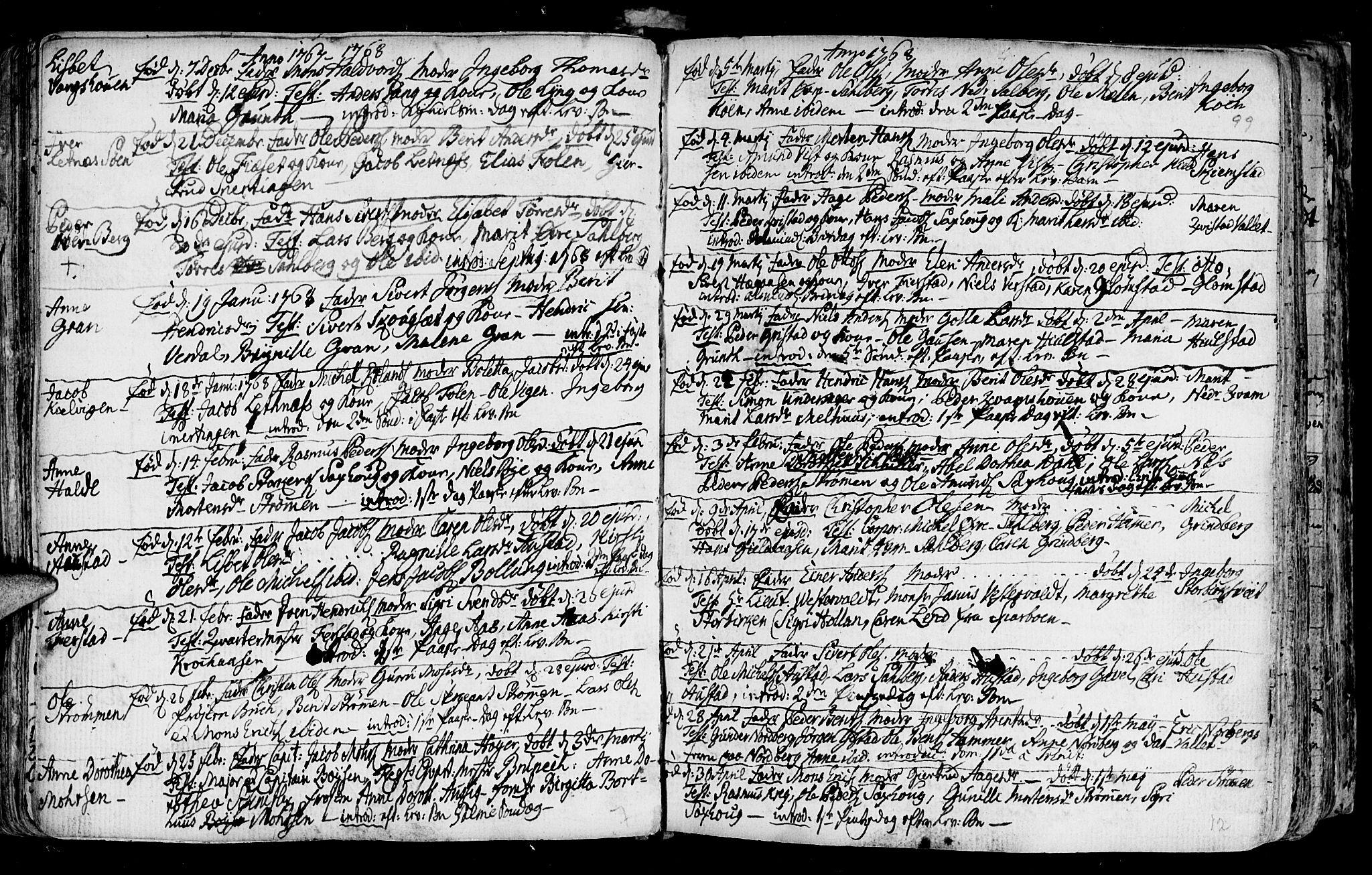 SAT, Ministerialprotokoller, klokkerbøker og fødselsregistre - Nord-Trøndelag, 730/L0273: Ministerialbok nr. 730A02, 1762-1802, s. 99