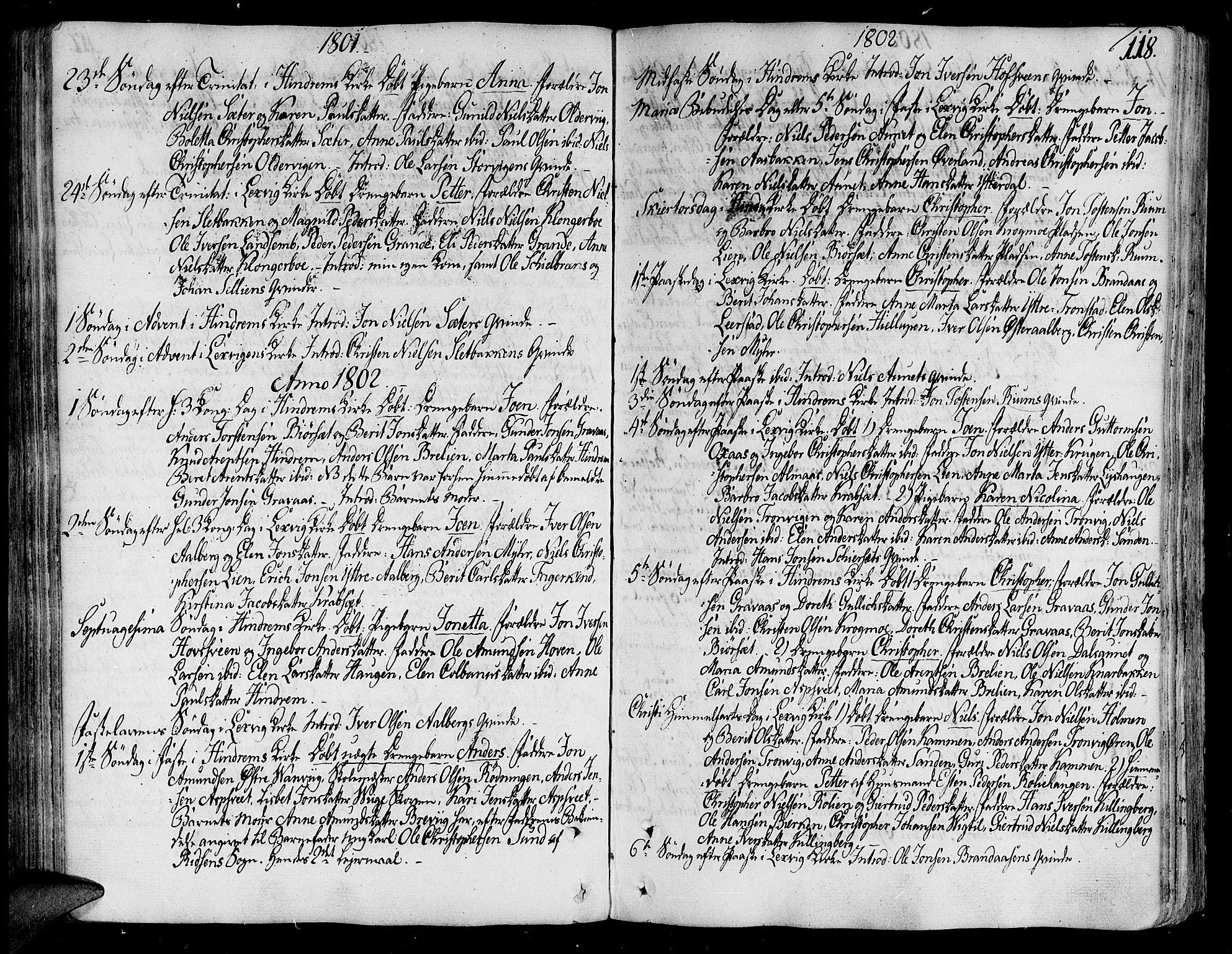 SAT, Ministerialprotokoller, klokkerbøker og fødselsregistre - Nord-Trøndelag, 701/L0004: Ministerialbok nr. 701A04, 1783-1816, s. 118