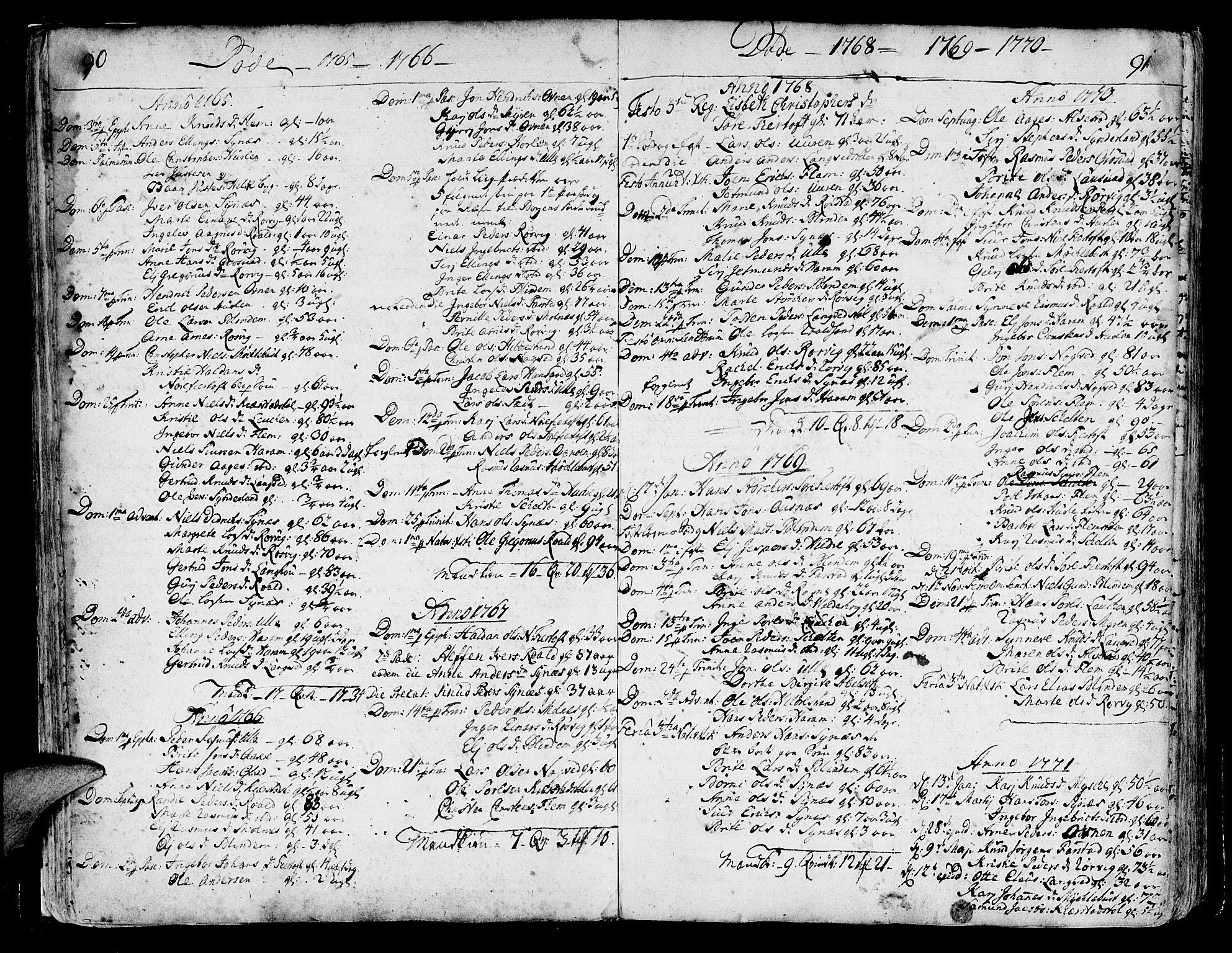 SAT, Ministerialprotokoller, klokkerbøker og fødselsregistre - Møre og Romsdal, 536/L0493: Ministerialbok nr. 536A02, 1739-1802, s. 90-91