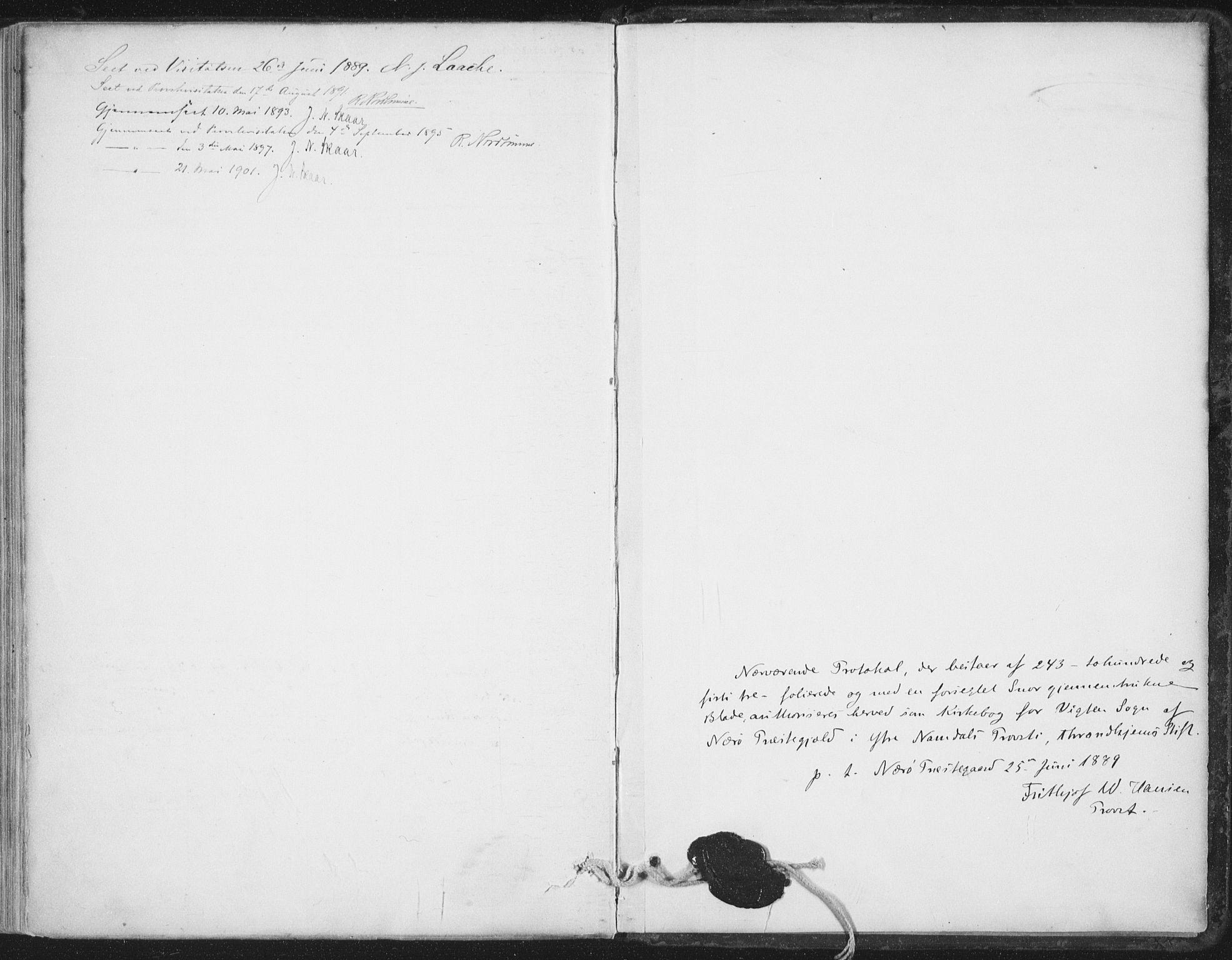 SAT, Ministerialprotokoller, klokkerbøker og fødselsregistre - Nord-Trøndelag, 786/L0687: Ministerialbok nr. 786A03, 1888-1898