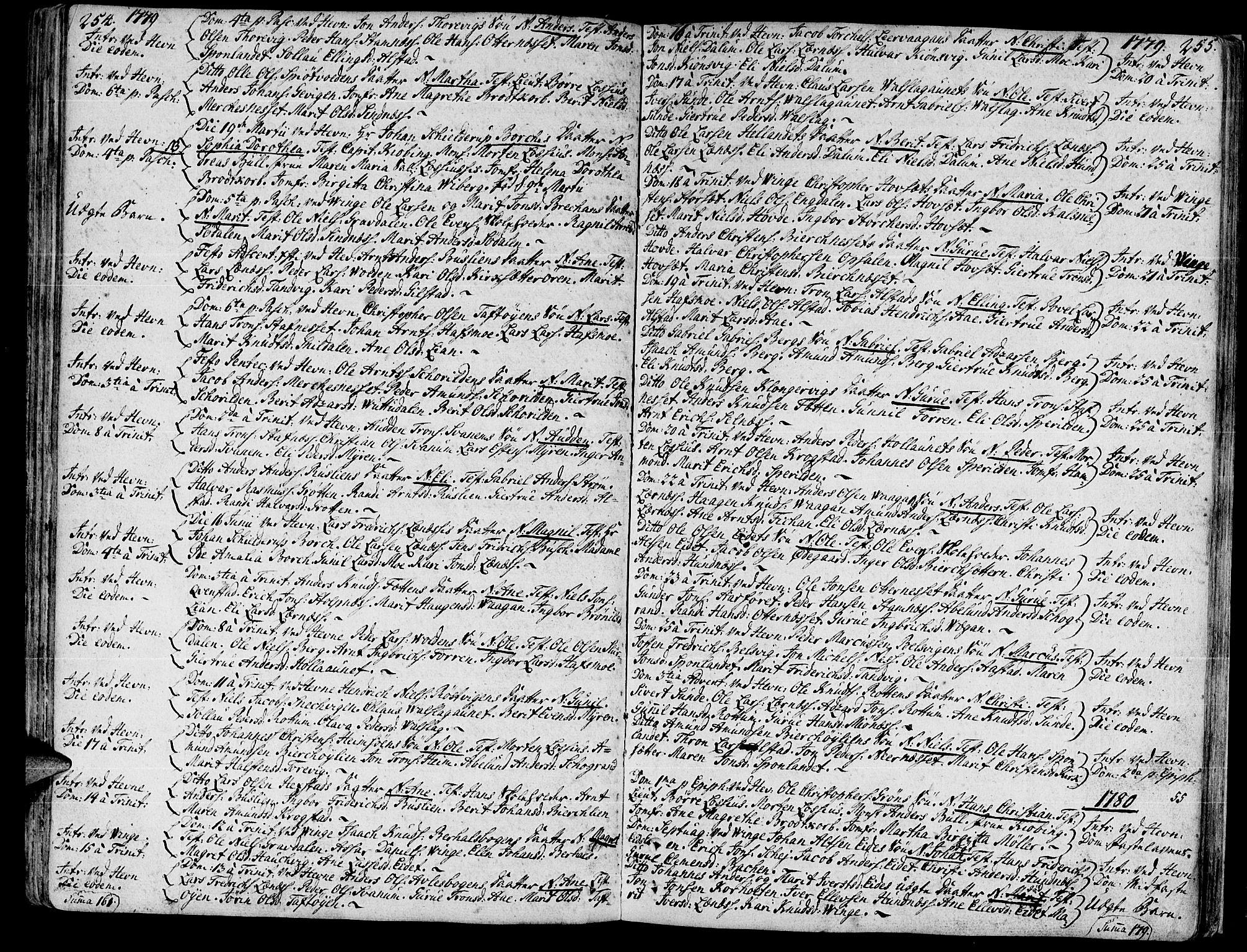 SAT, Ministerialprotokoller, klokkerbøker og fødselsregistre - Sør-Trøndelag, 630/L0489: Ministerialbok nr. 630A02, 1757-1794, s. 254-255