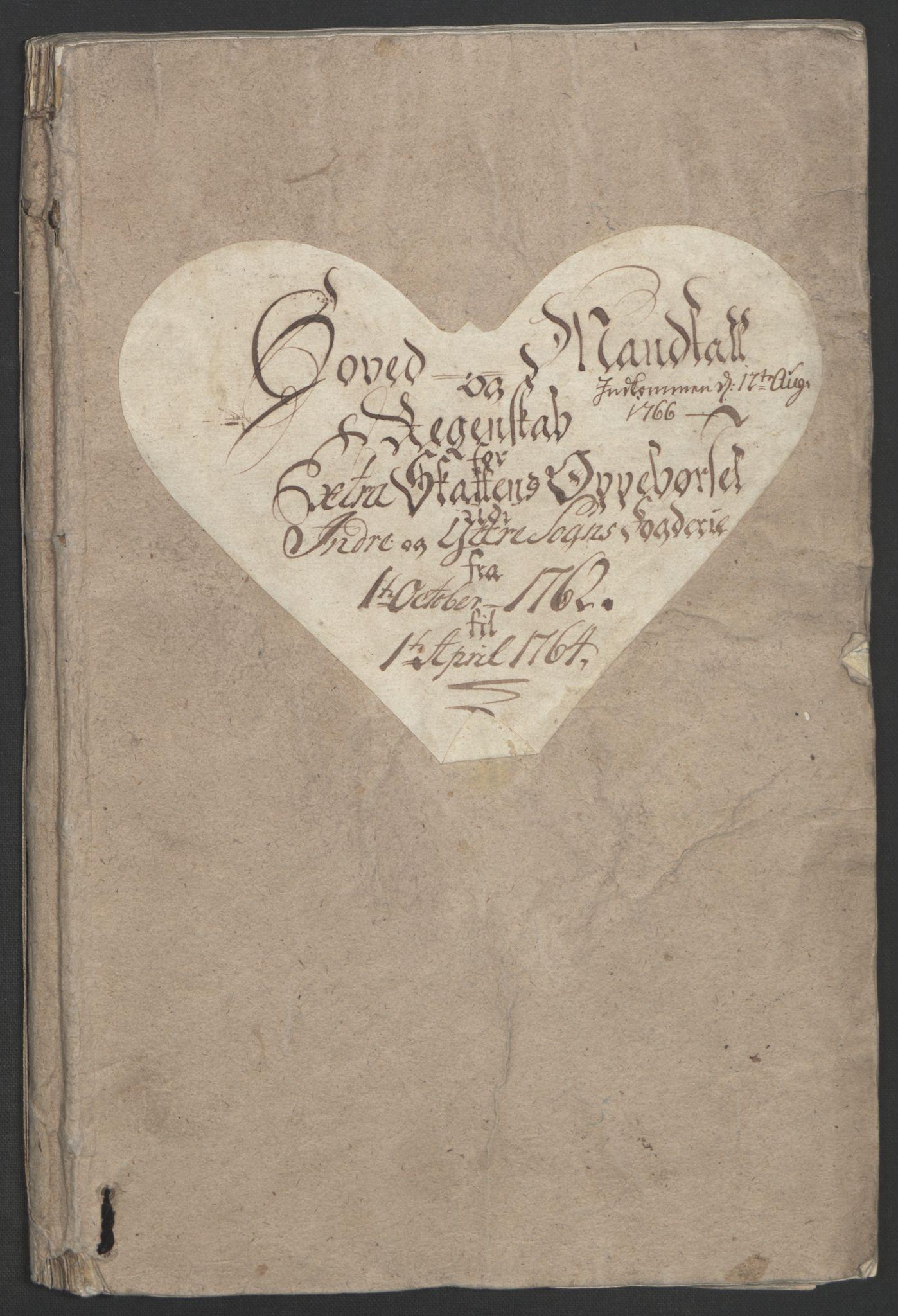 RA, Rentekammeret inntil 1814, Realistisk ordnet avdeling, Ol/L0018: [Gg 10]: Ekstraskatten, 23.09.1762. Sogn, 1762-1772, s. 6