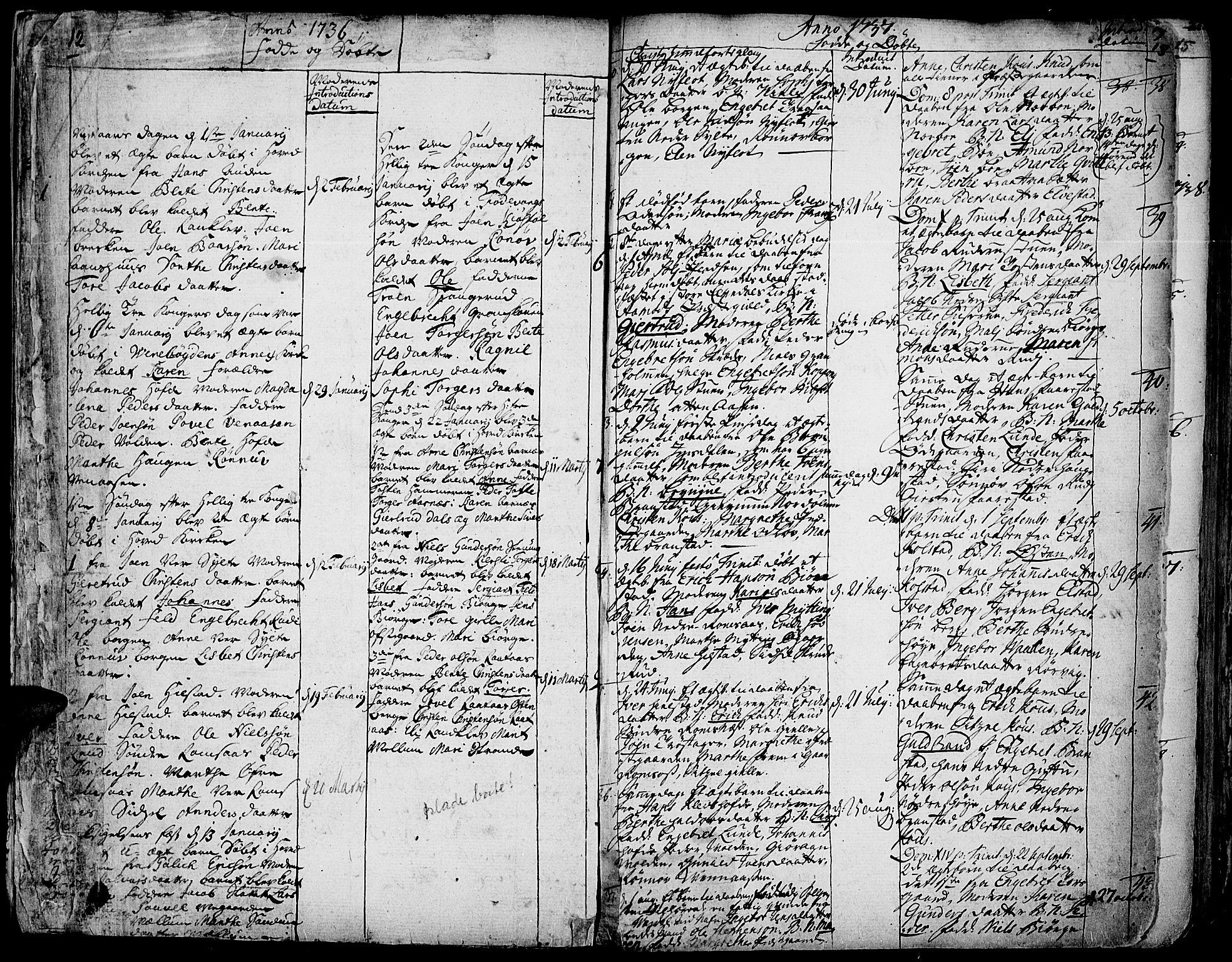 SAH, Ringebu prestekontor, Ministerialbok nr. 2, 1734-1780, s. 12-13