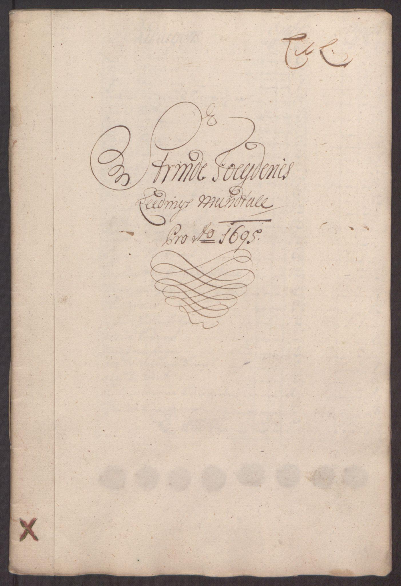 RA, Rentekammeret inntil 1814, Reviderte regnskaper, Fogderegnskap, R61/L4105: Fogderegnskap Strinda og Selbu, 1695, s. 82