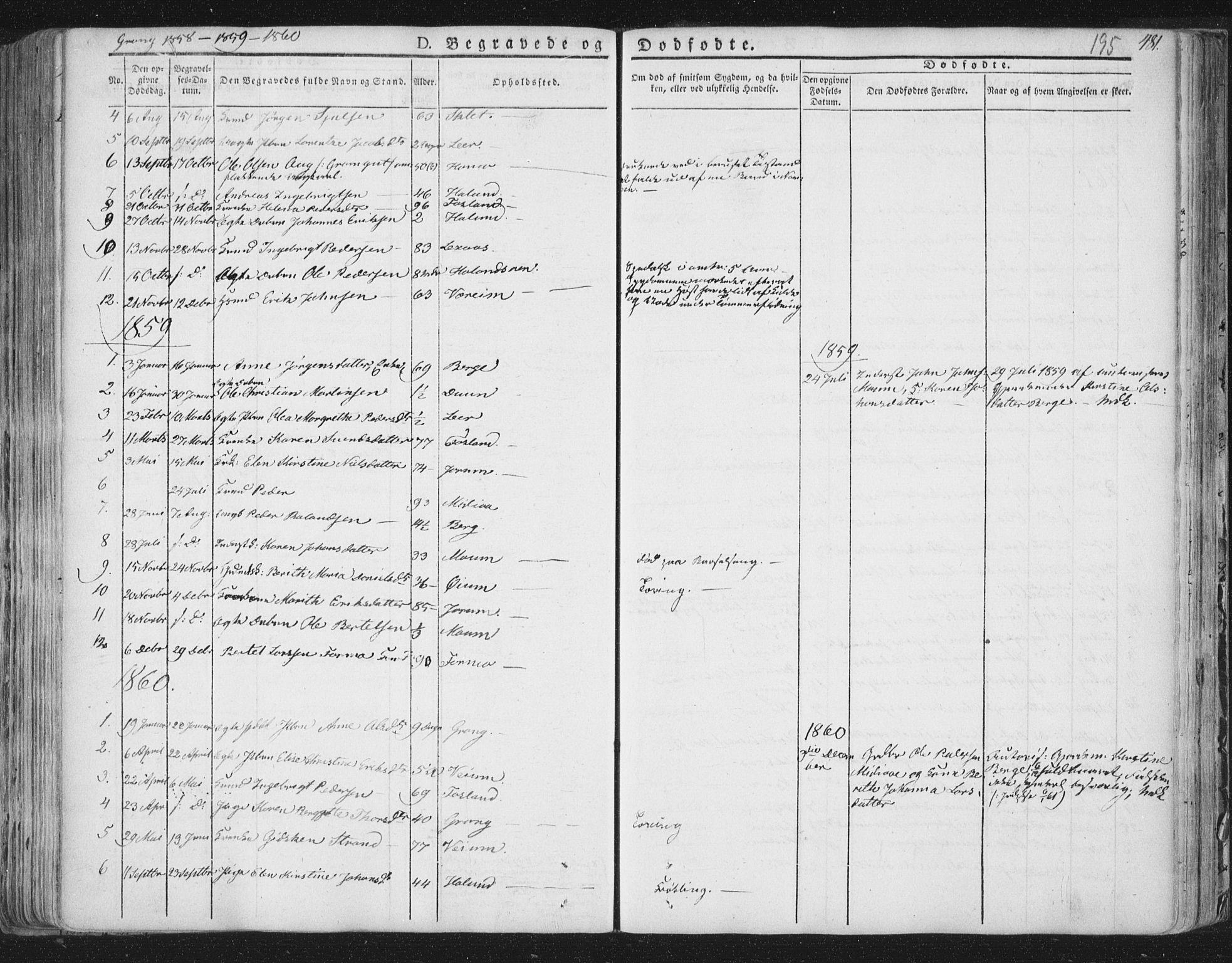 SAT, Ministerialprotokoller, klokkerbøker og fødselsregistre - Nord-Trøndelag, 758/L0513: Ministerialbok nr. 758A02 /1, 1839-1868, s. 195