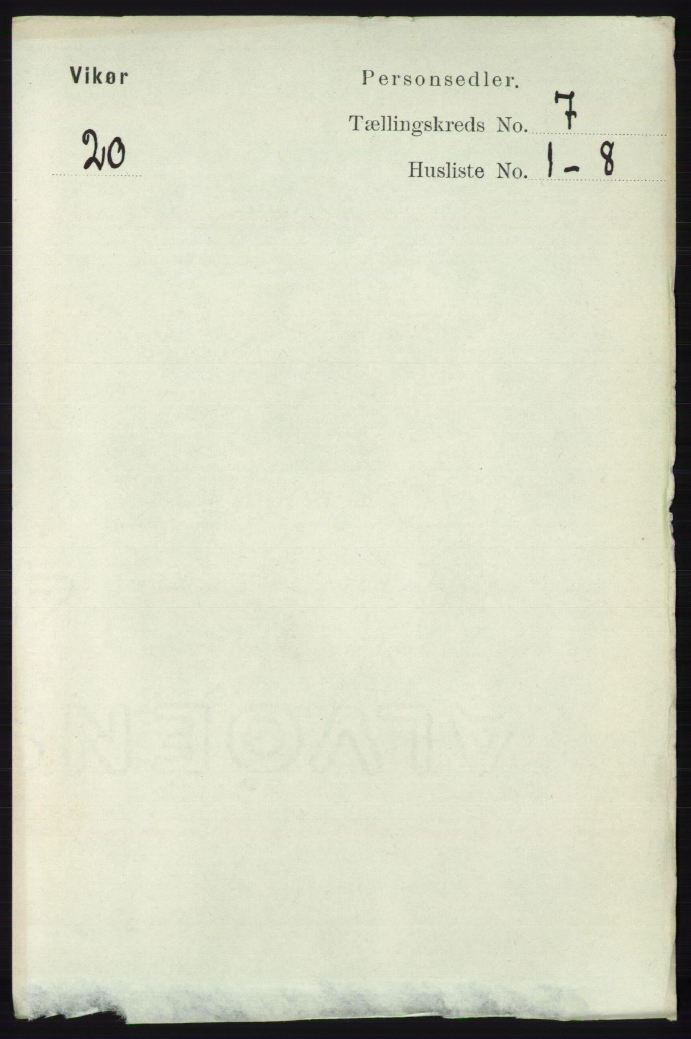 RA, Folketelling 1891 for 1238 Vikør herred, 1891, s. 2208