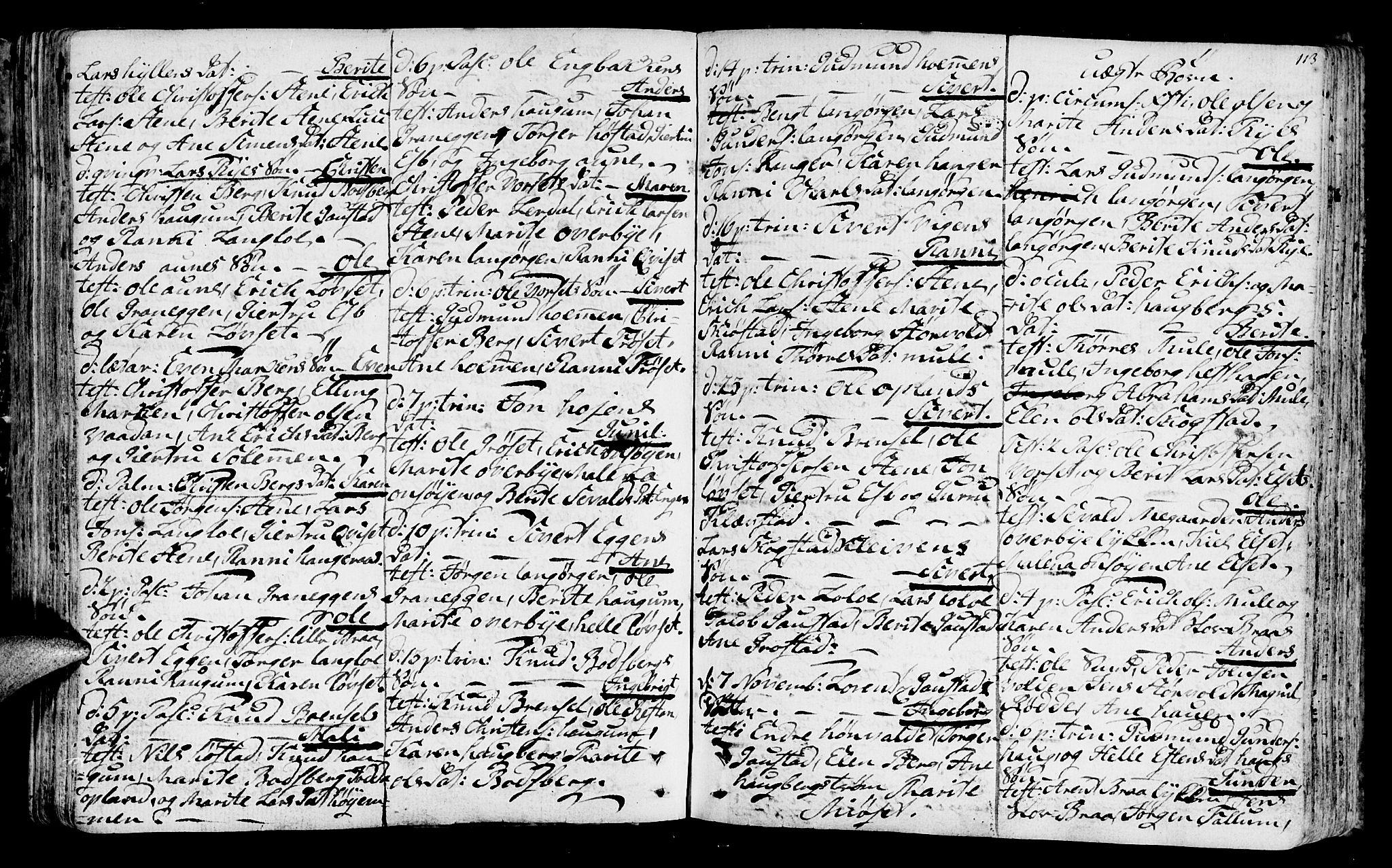 SAT, Ministerialprotokoller, klokkerbøker og fødselsregistre - Sør-Trøndelag, 612/L0370: Ministerialbok nr. 612A04, 1754-1802, s. 113