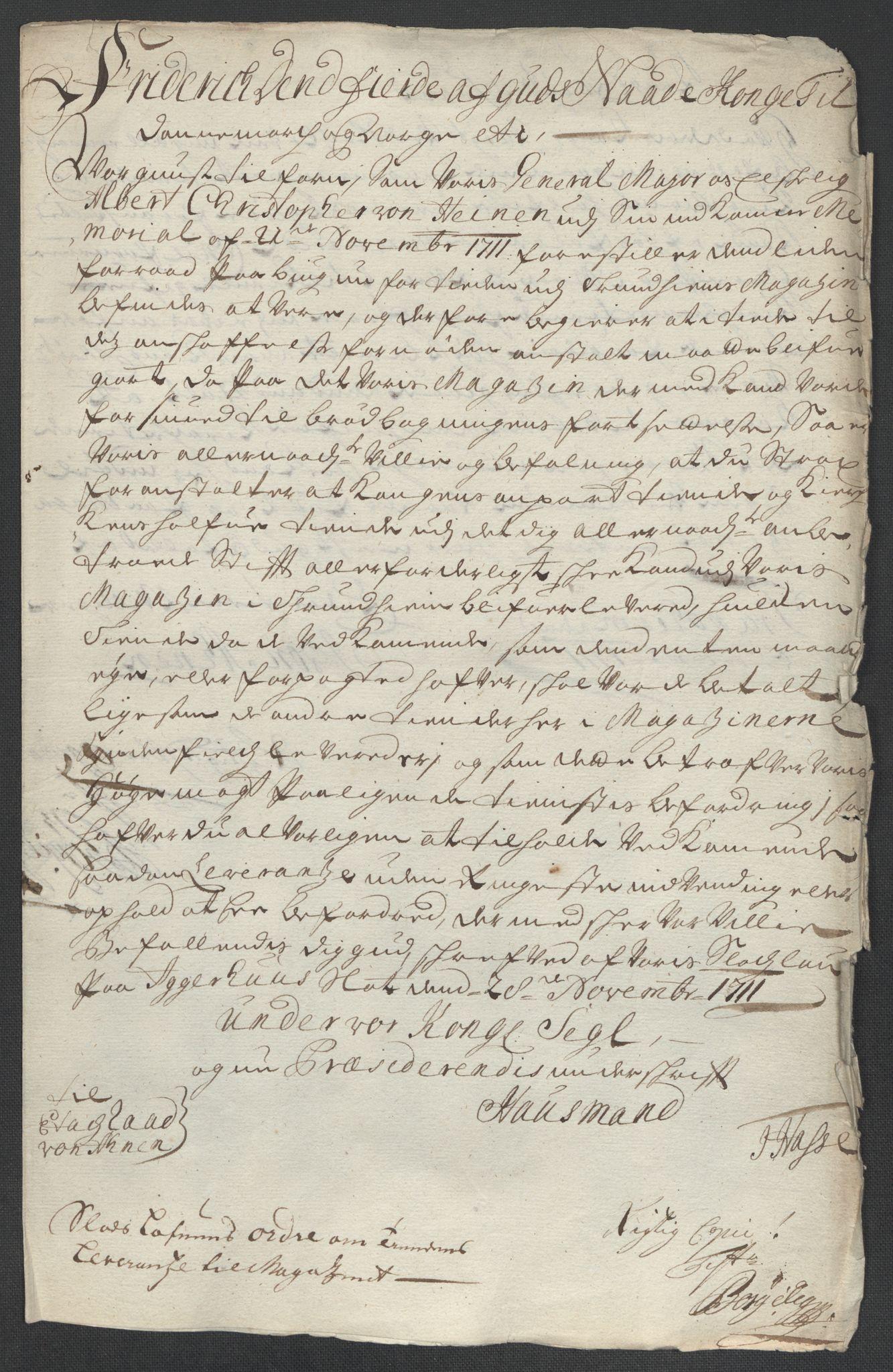RA, Rentekammeret inntil 1814, Reviderte regnskaper, Fogderegnskap, R55/L3660: Fogderegnskap Romsdal, 1711, s. 403