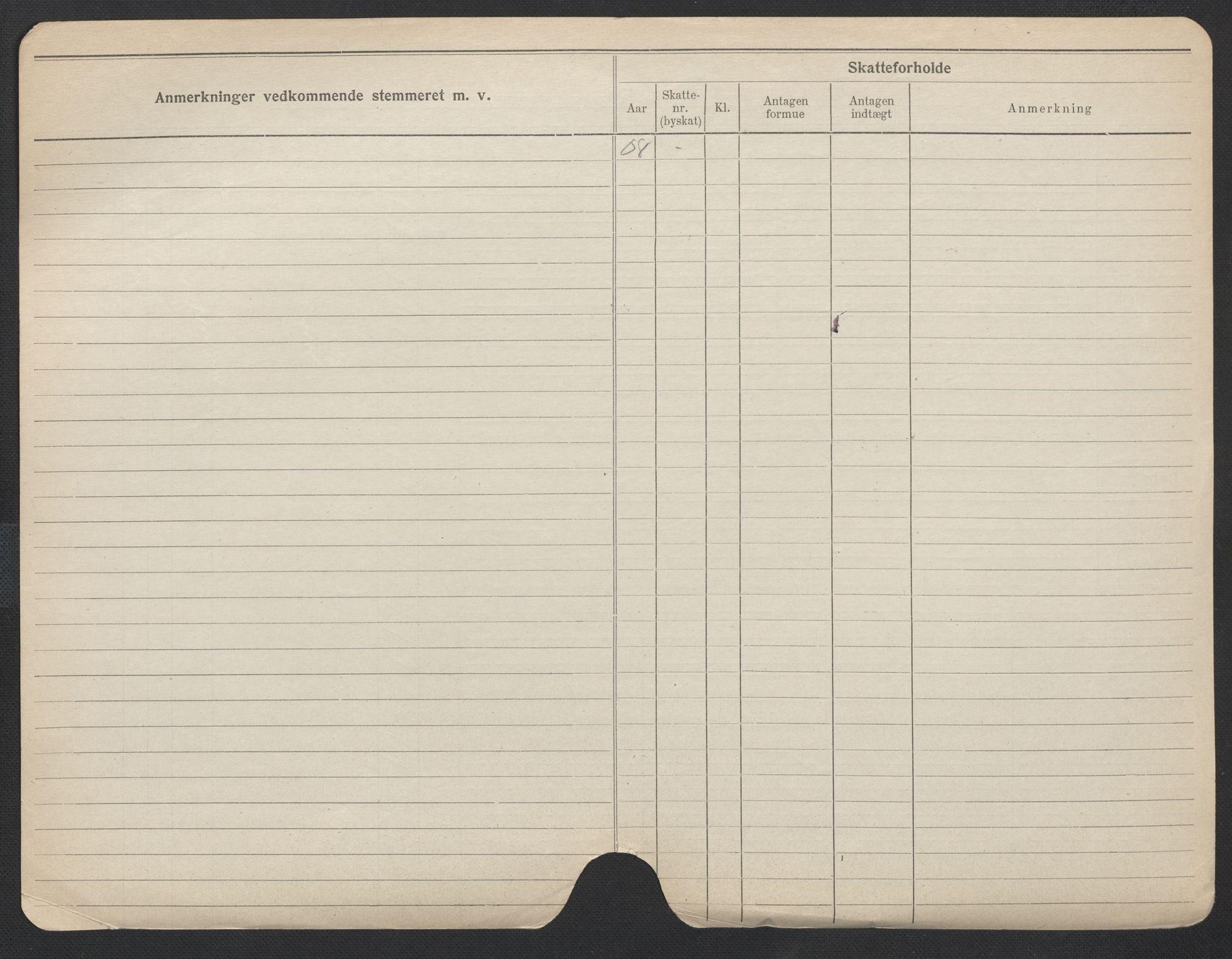 SAO, Oslo folkeregister, Registerkort, F/Fa/Fac/L0011: Menn, 1906-1914, s. 650b