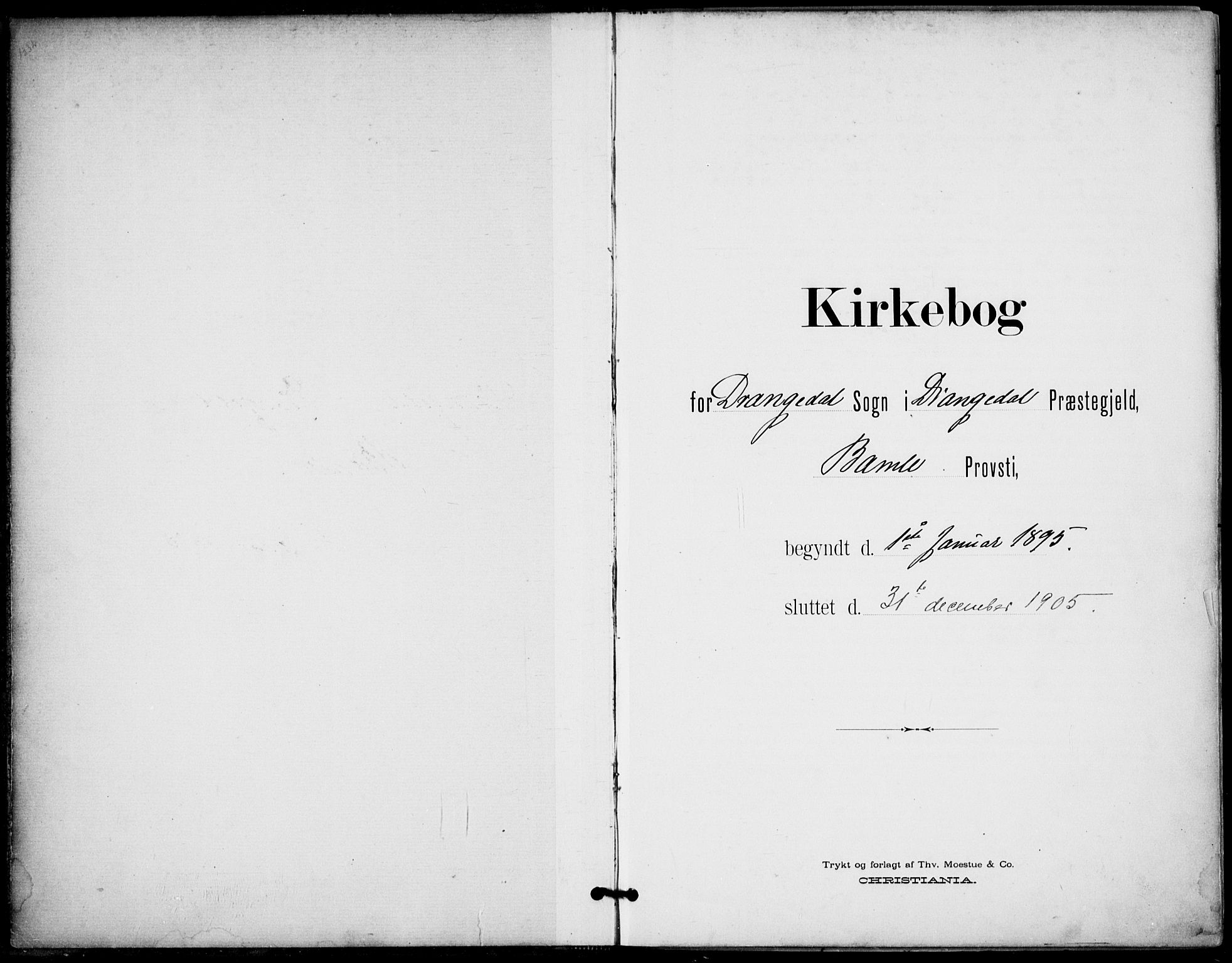 SAKO, Drangedal kirkebøker, F/Fa/L0012: Ministerialbok nr. 12, 1895-1905