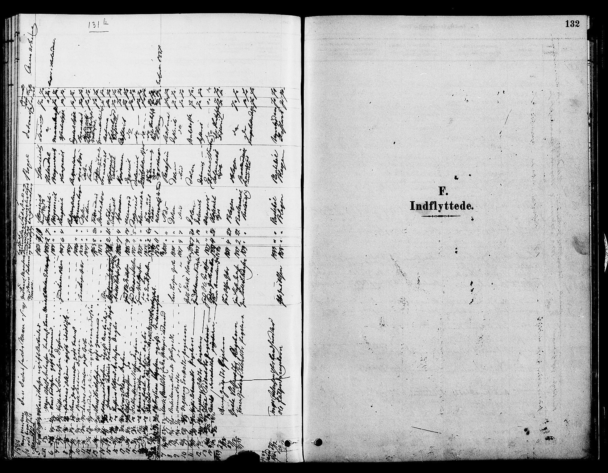 SAH, Gran prestekontor, Ministerialbok nr. 15, 1880-1888, s. 132