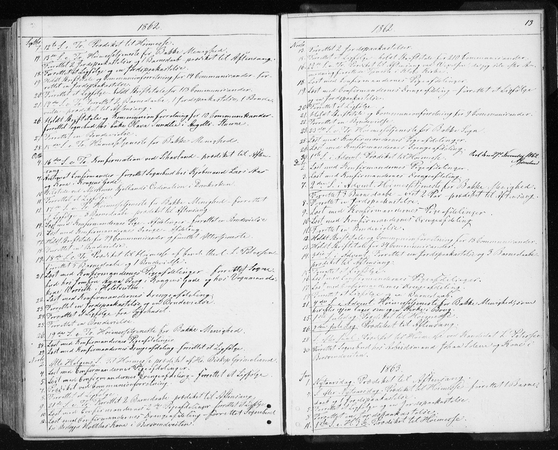 SAT, Ministerialprotokoller, klokkerbøker og fødselsregistre - Sør-Trøndelag, 601/L0053: Ministerialbok nr. 601A21, 1857-1865, s. 13