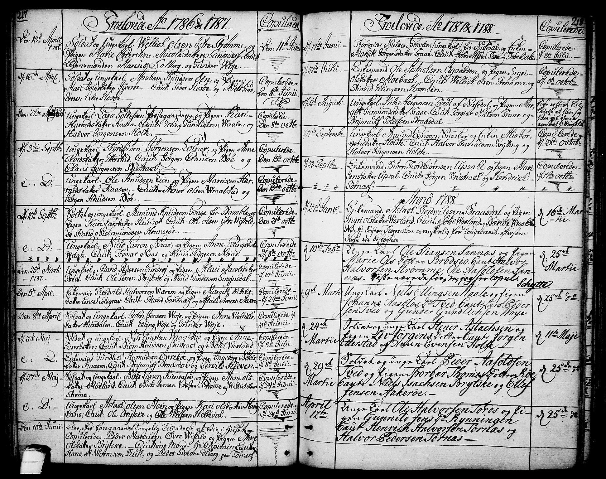 SAKO, Drangedal kirkebøker, F/Fa/L0003: Ministerialbok nr. 3, 1768-1814, s. 217-218