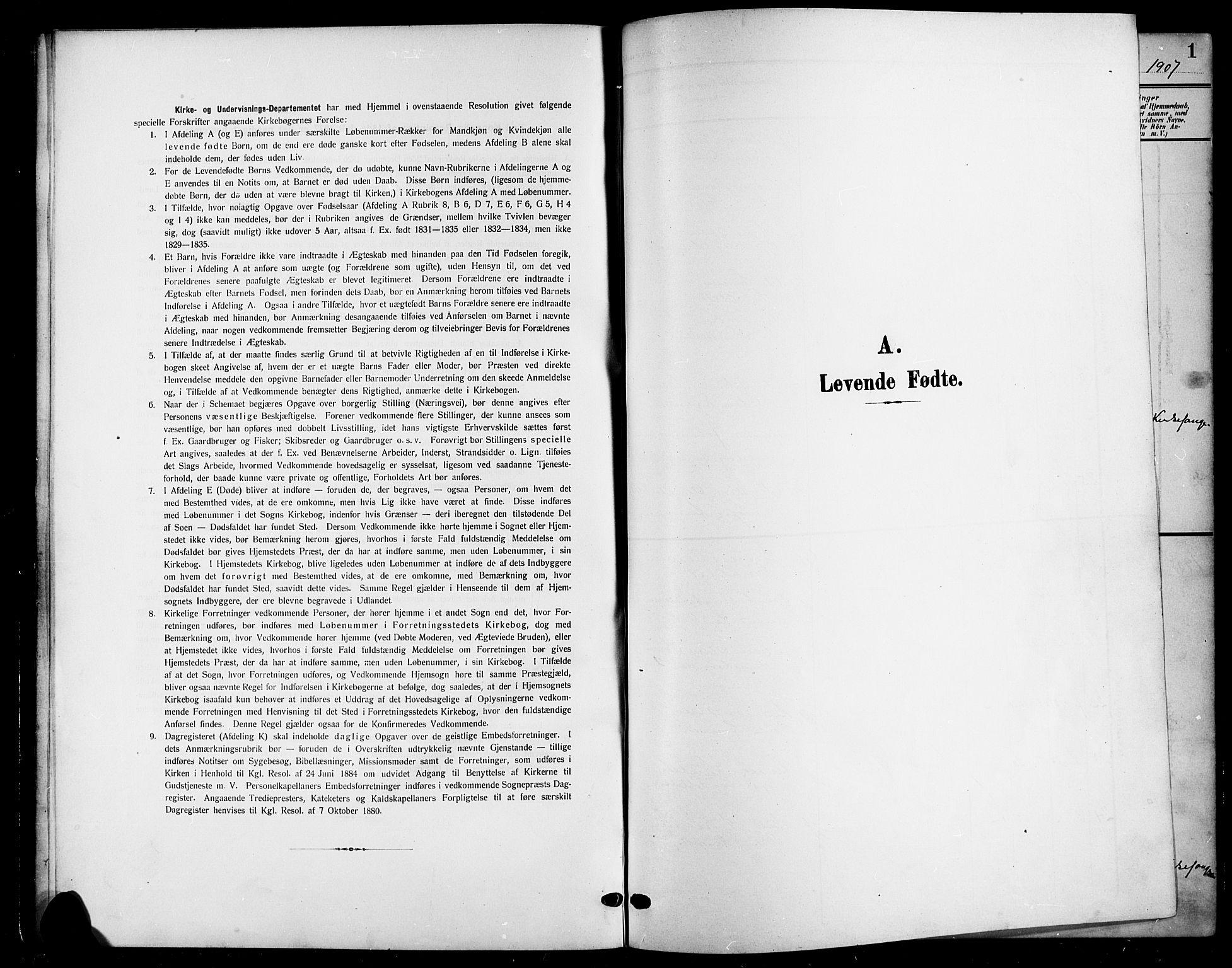 SAH, Nord-Aurdal prestekontor, Klokkerbok nr. 12, 1907-1920