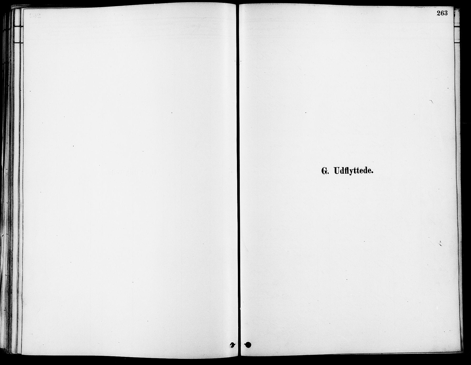 SAO, Gamle Aker prestekontor Kirkebøker, F/L0007: Ministerialbok nr. 7, 1882-1890, s. 263