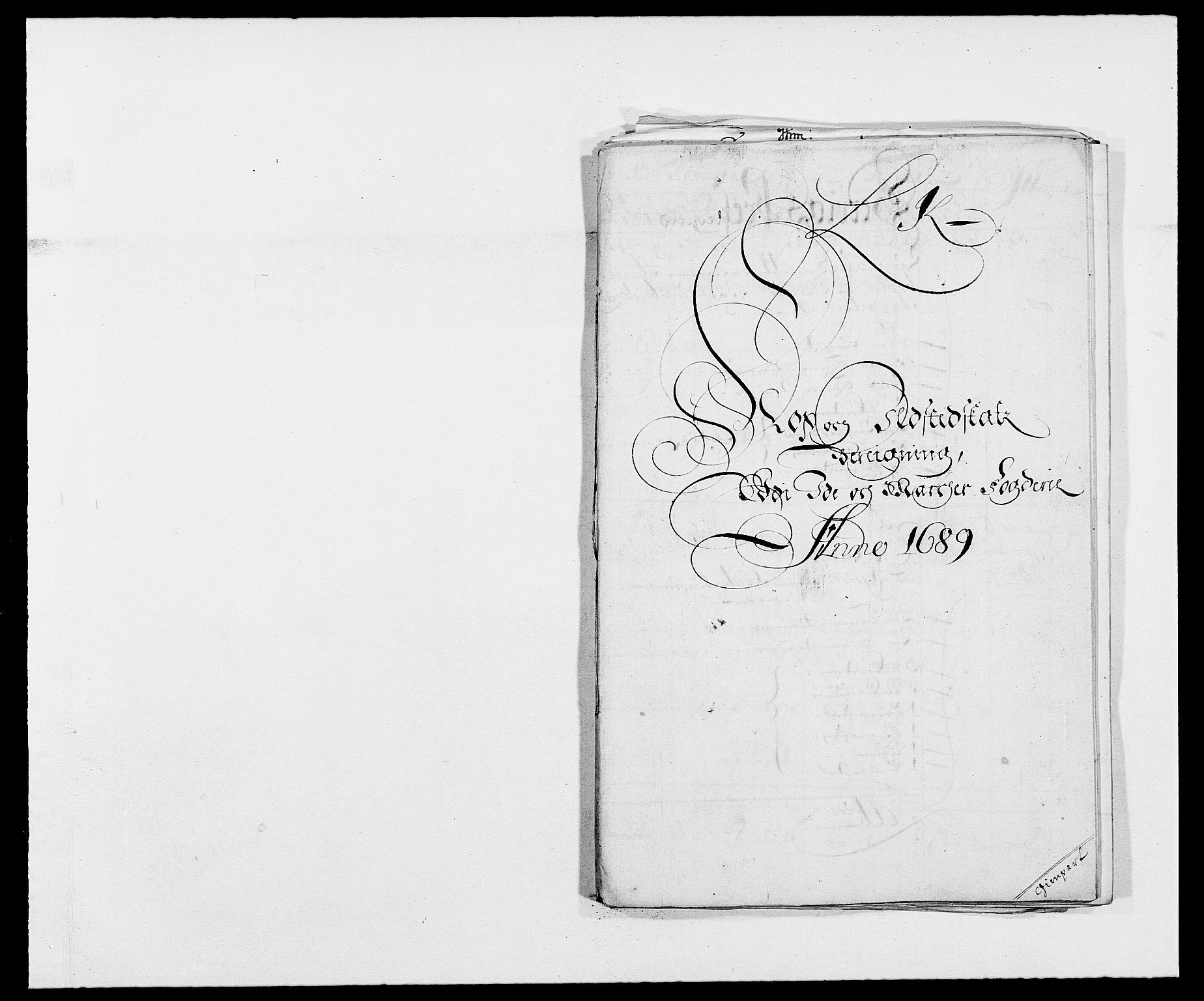 RA, Rentekammeret inntil 1814, Reviderte regnskaper, Fogderegnskap, R01/L0008: Fogderegnskap Idd og Marker, 1689, s. 239