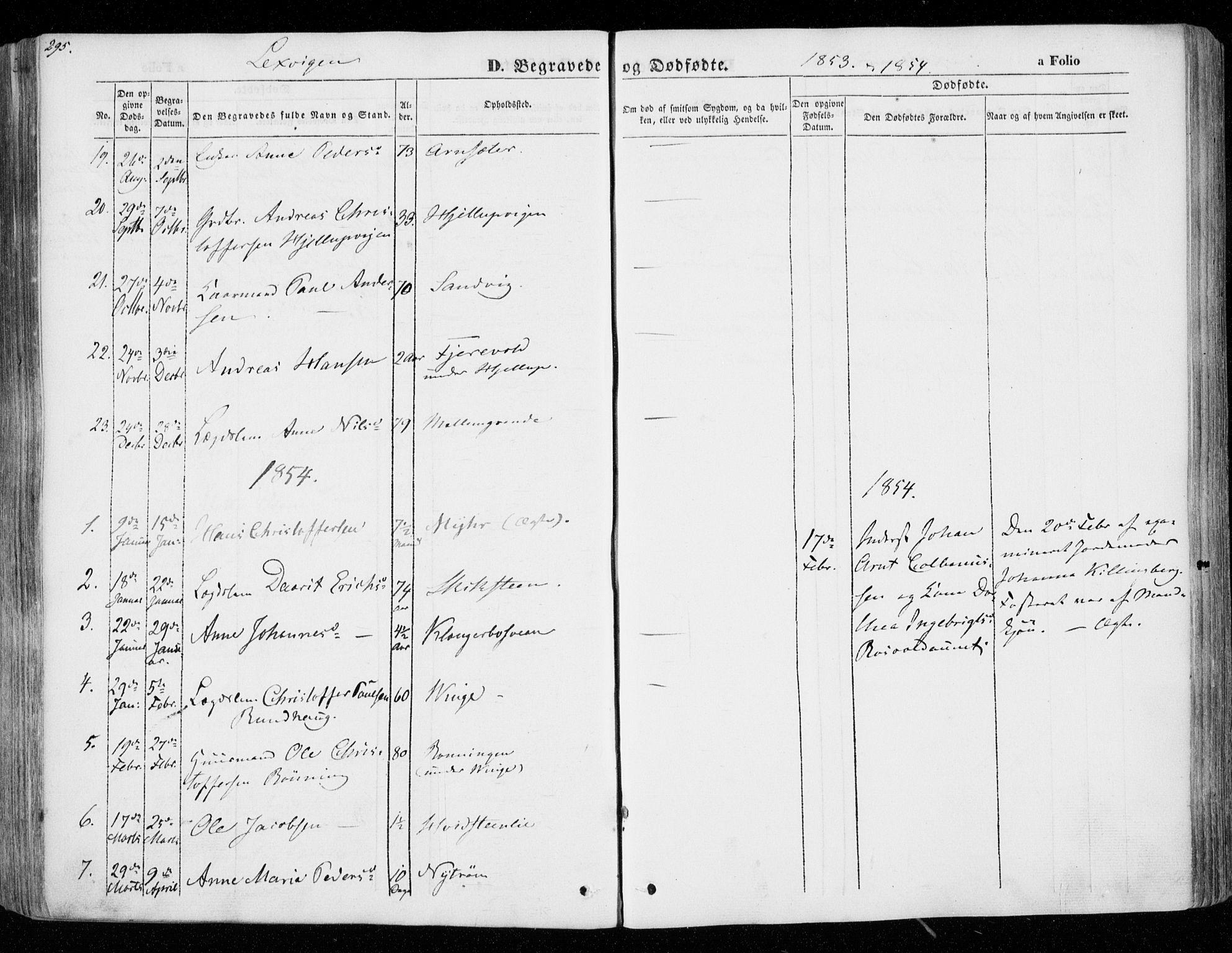 SAT, Ministerialprotokoller, klokkerbøker og fødselsregistre - Nord-Trøndelag, 701/L0007: Ministerialbok nr. 701A07 /1, 1842-1854, s. 295