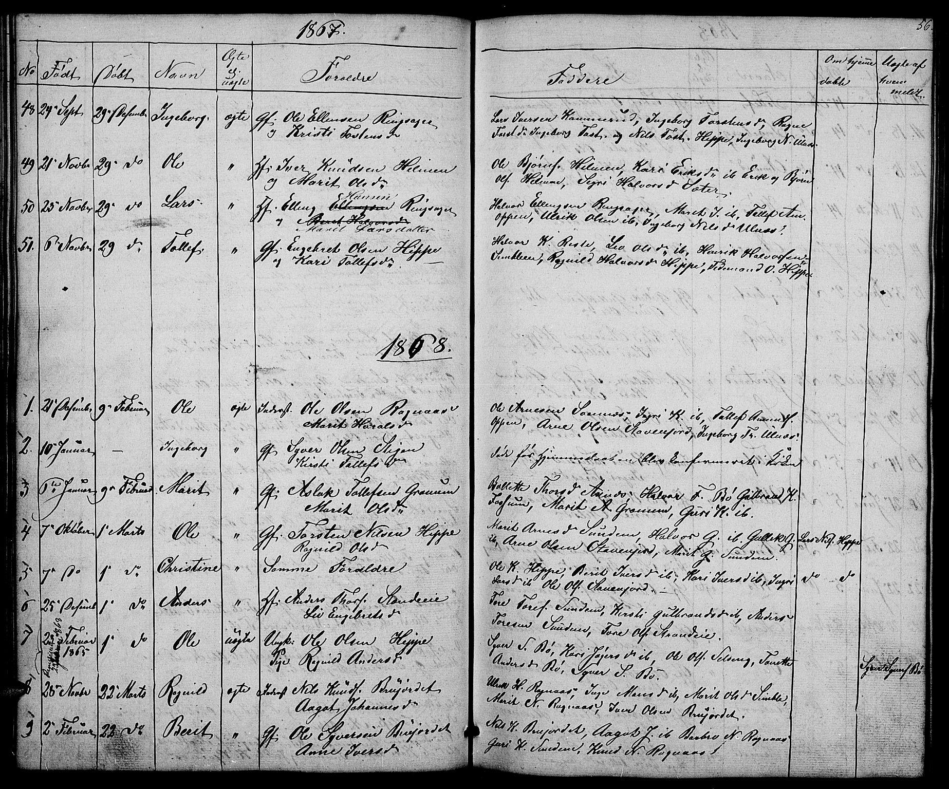 SAH, Nord-Aurdal prestekontor, Klokkerbok nr. 4, 1842-1882, s. 56