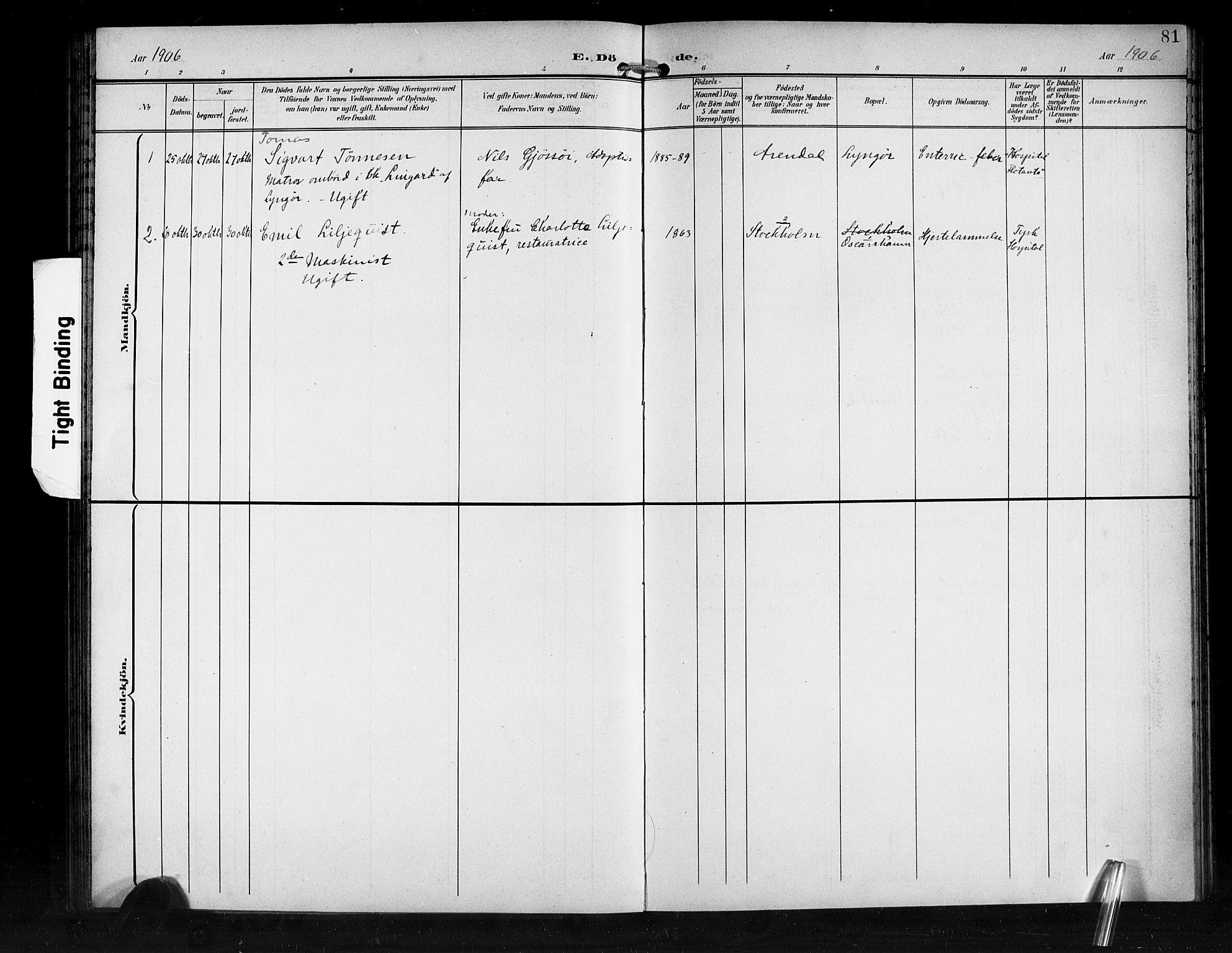 SAB, Den Norske Sjømannsmisjon i utlandet*, Ministerialbok nr. A 2, 1899-1919, s. 81