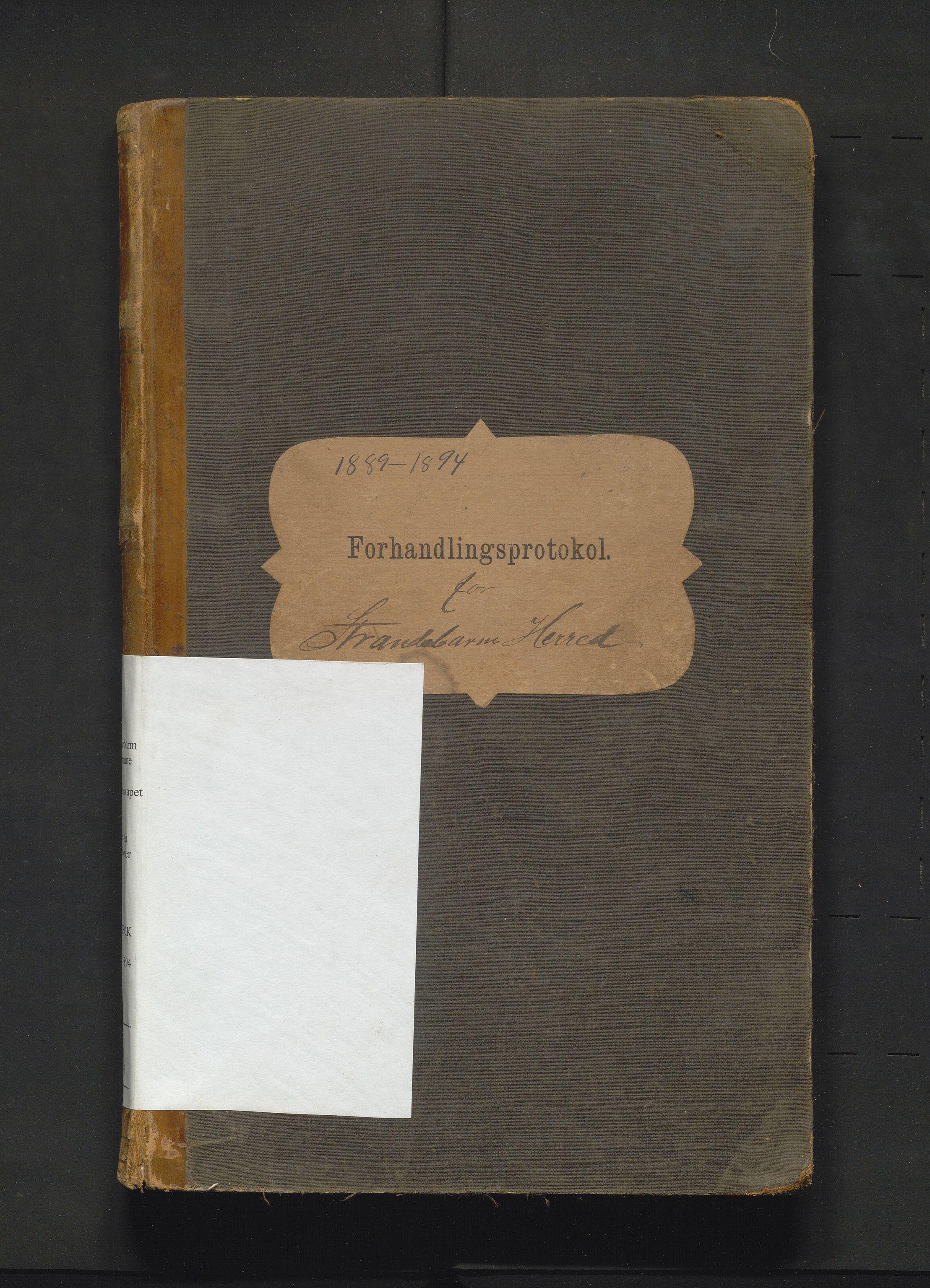 IKAH, Strandebarm kommune. Formannskapet, A/Aa/L0003: Møtebok for formannskap og heradsstyre, 1889-1894