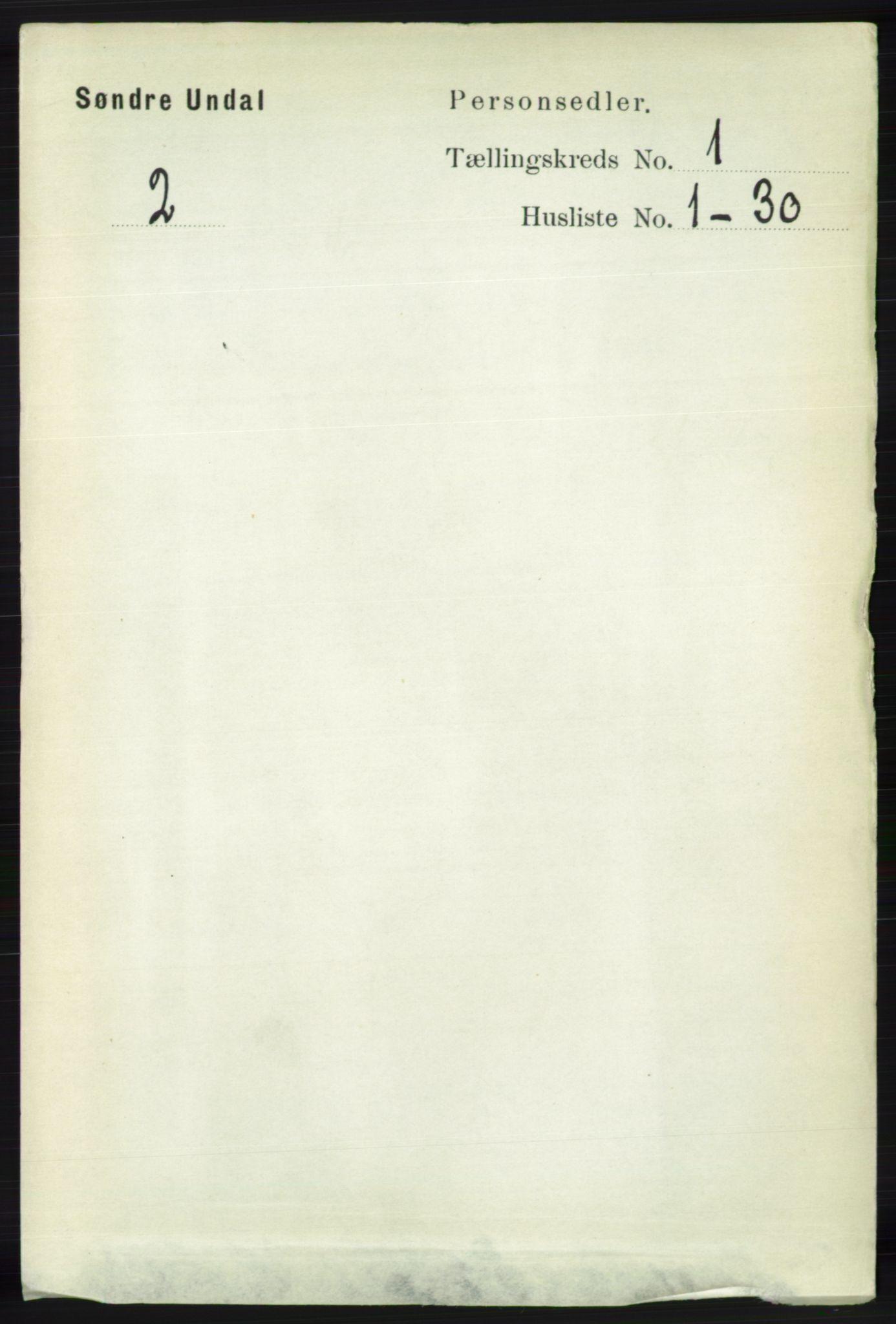 RA, Folketelling 1891 for 1029 Sør-Audnedal herred, 1891, s. 92